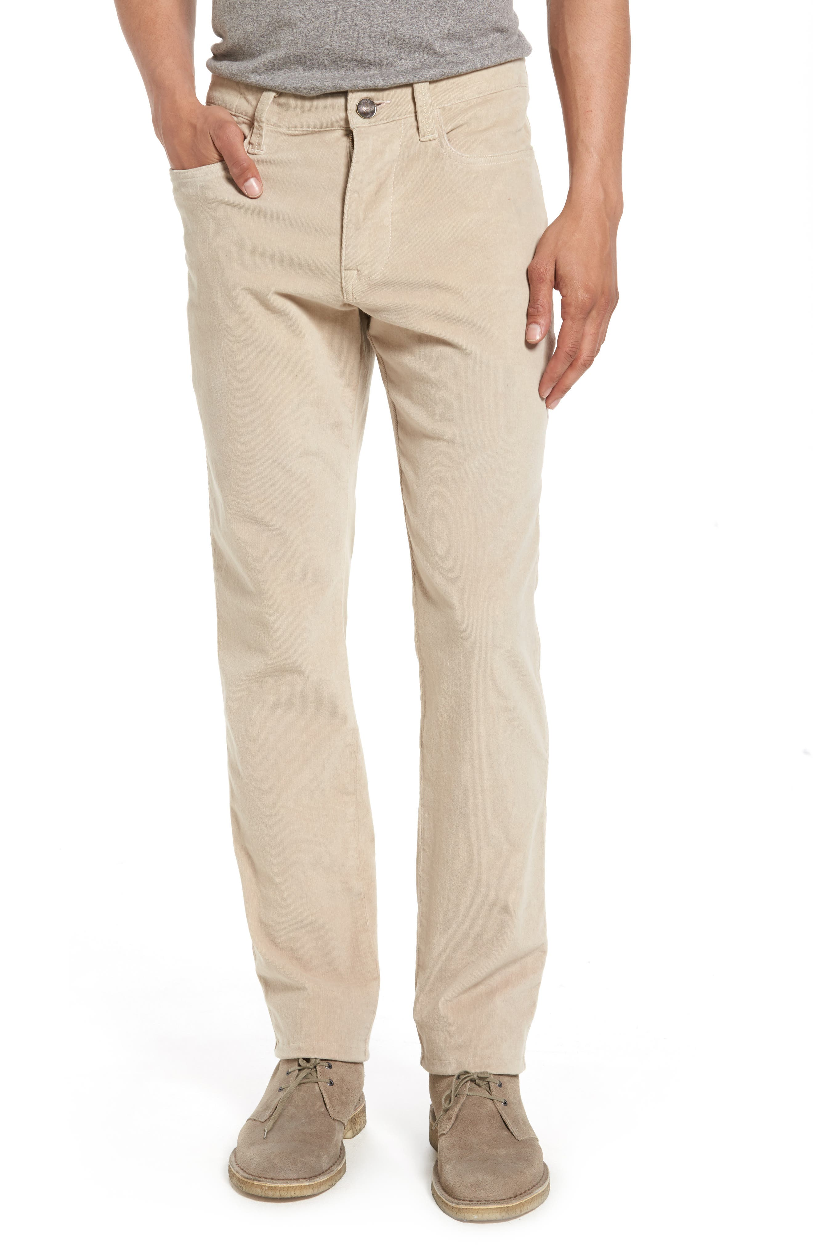 Modern Fit Stretch Corduroy Pants,                         Main,                         color, Oatmeal