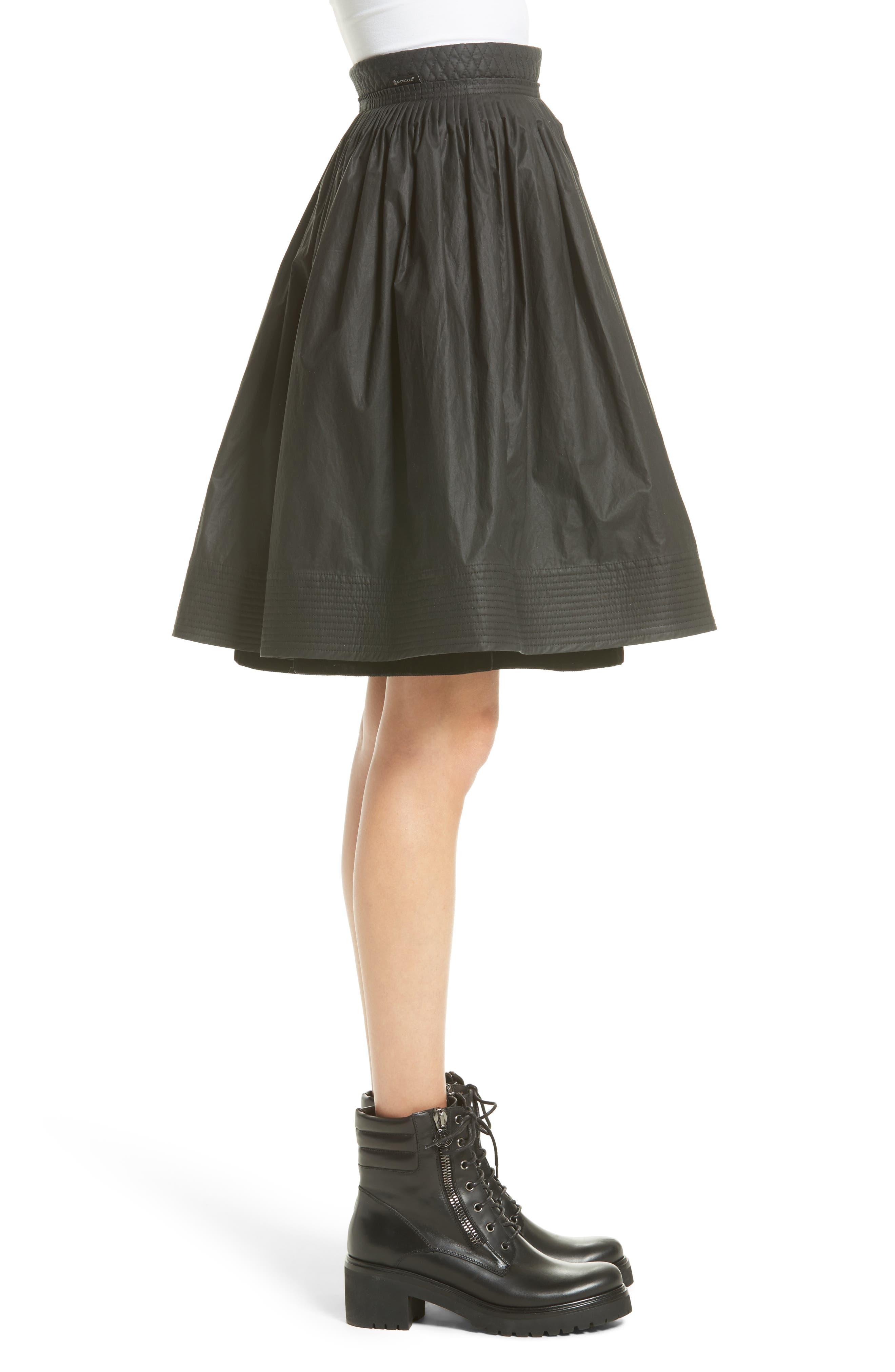 Alternate Image 3  - Moncler Gonna Cotton A-Line Skirt