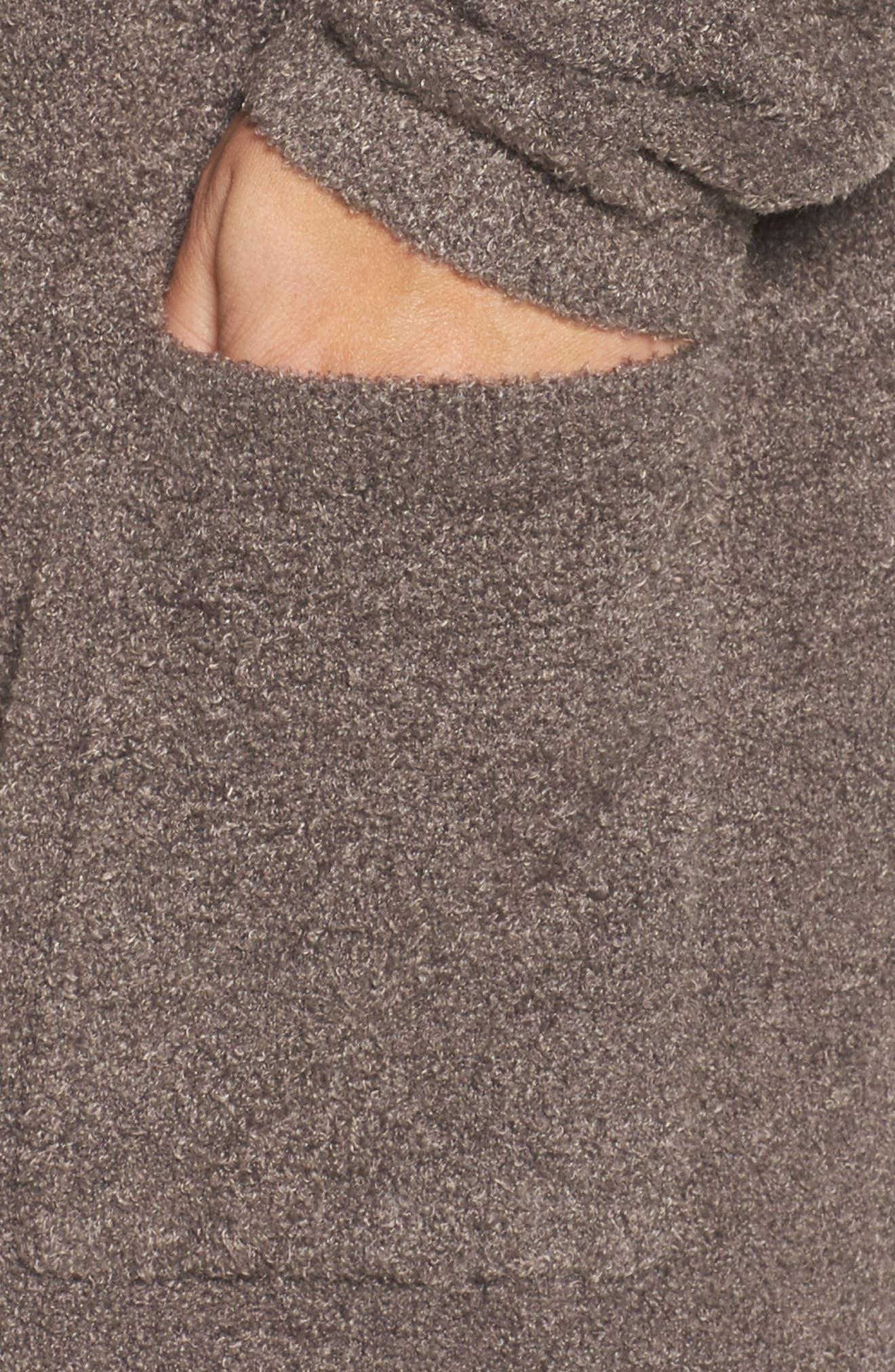 Alternate Image 5  - Barefoot Dreams® Cozychic Lite® Coastal Hooded Cardigan (Plus Size)