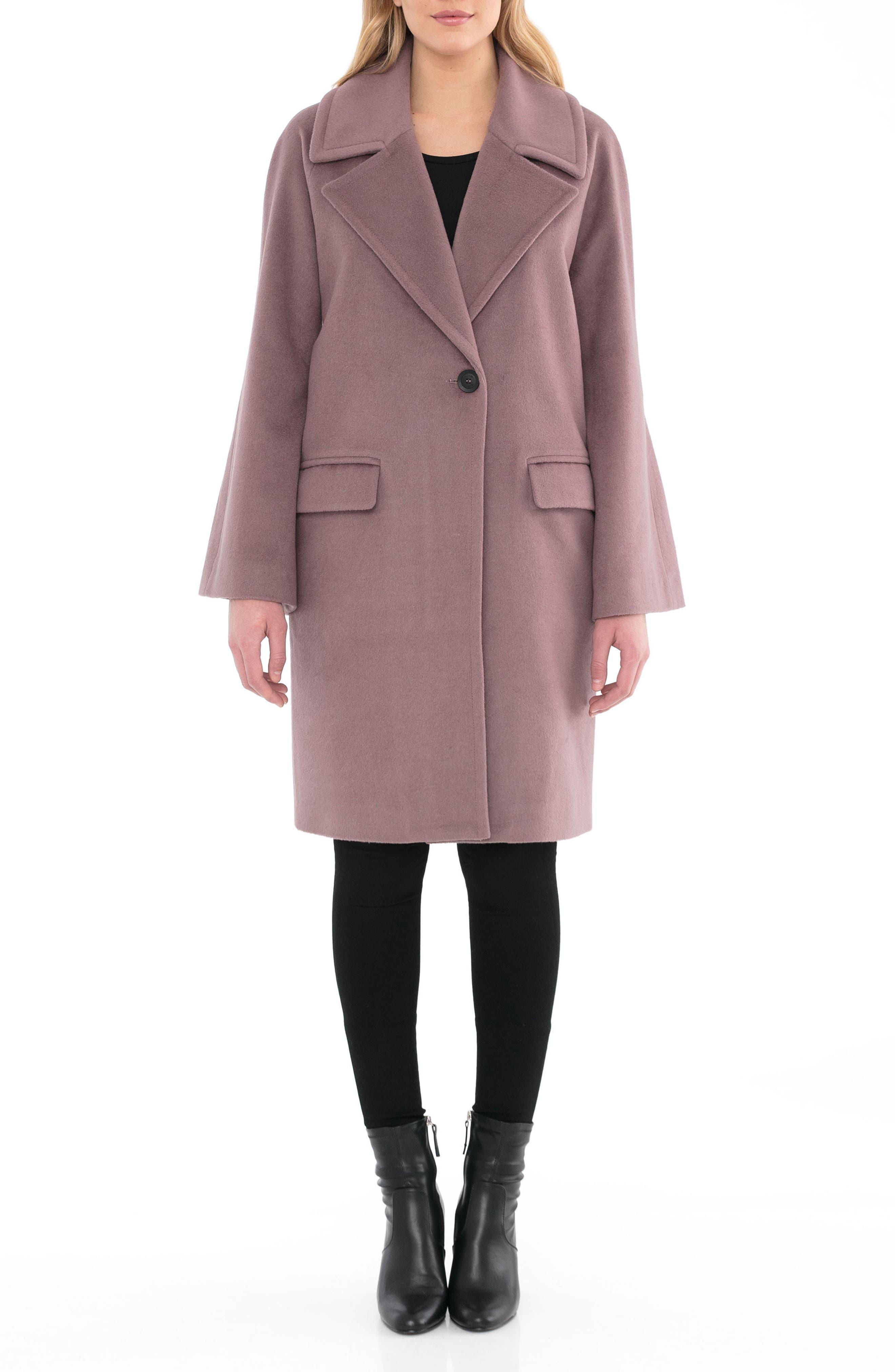 Badgley Mischka Bella Flare Sleeve Long Coat