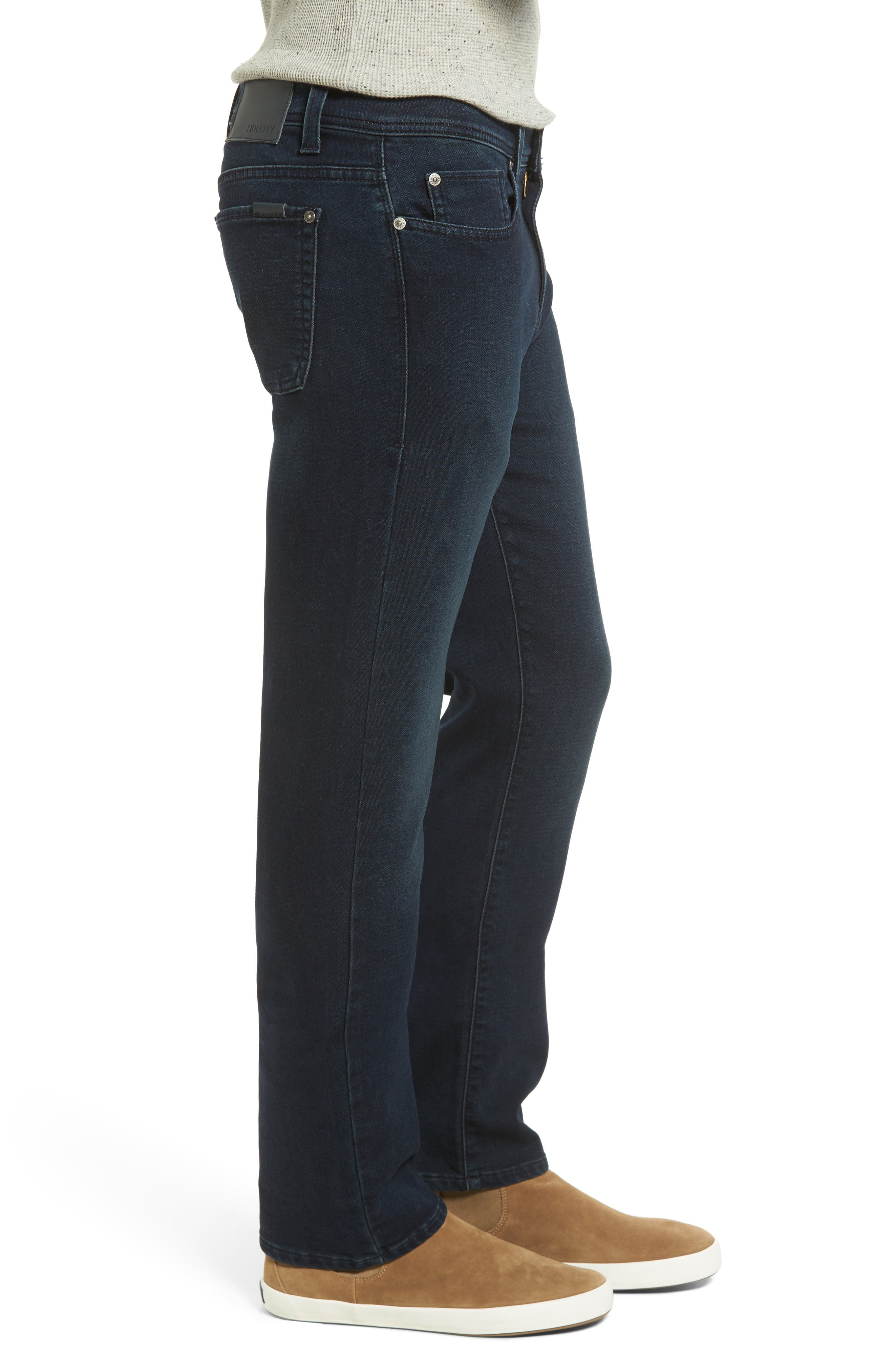 Jimmy Slim Straight Leg Jeans,                             Alternate thumbnail 3, color,                             Oxy Midnight