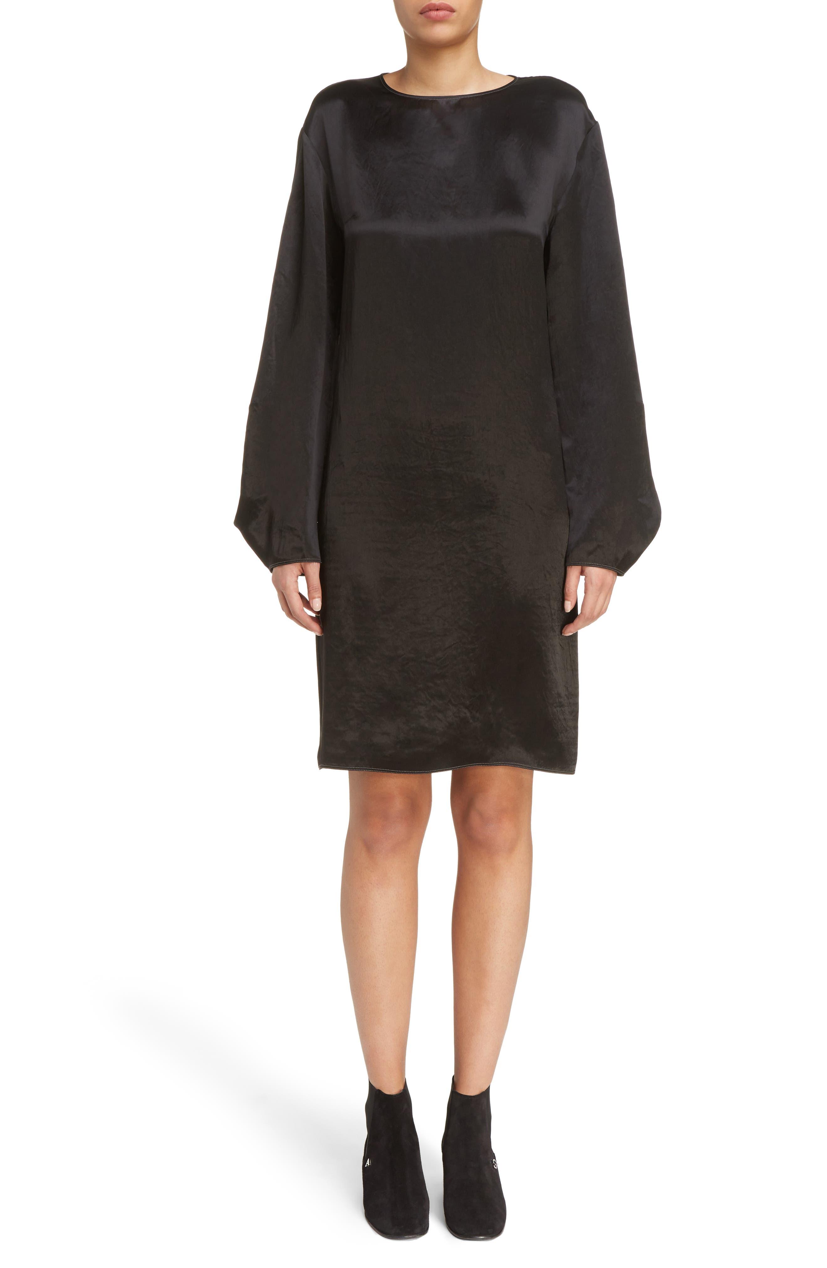 Dorina Flounce Sleeve Dress,                             Main thumbnail 1, color,                             Black