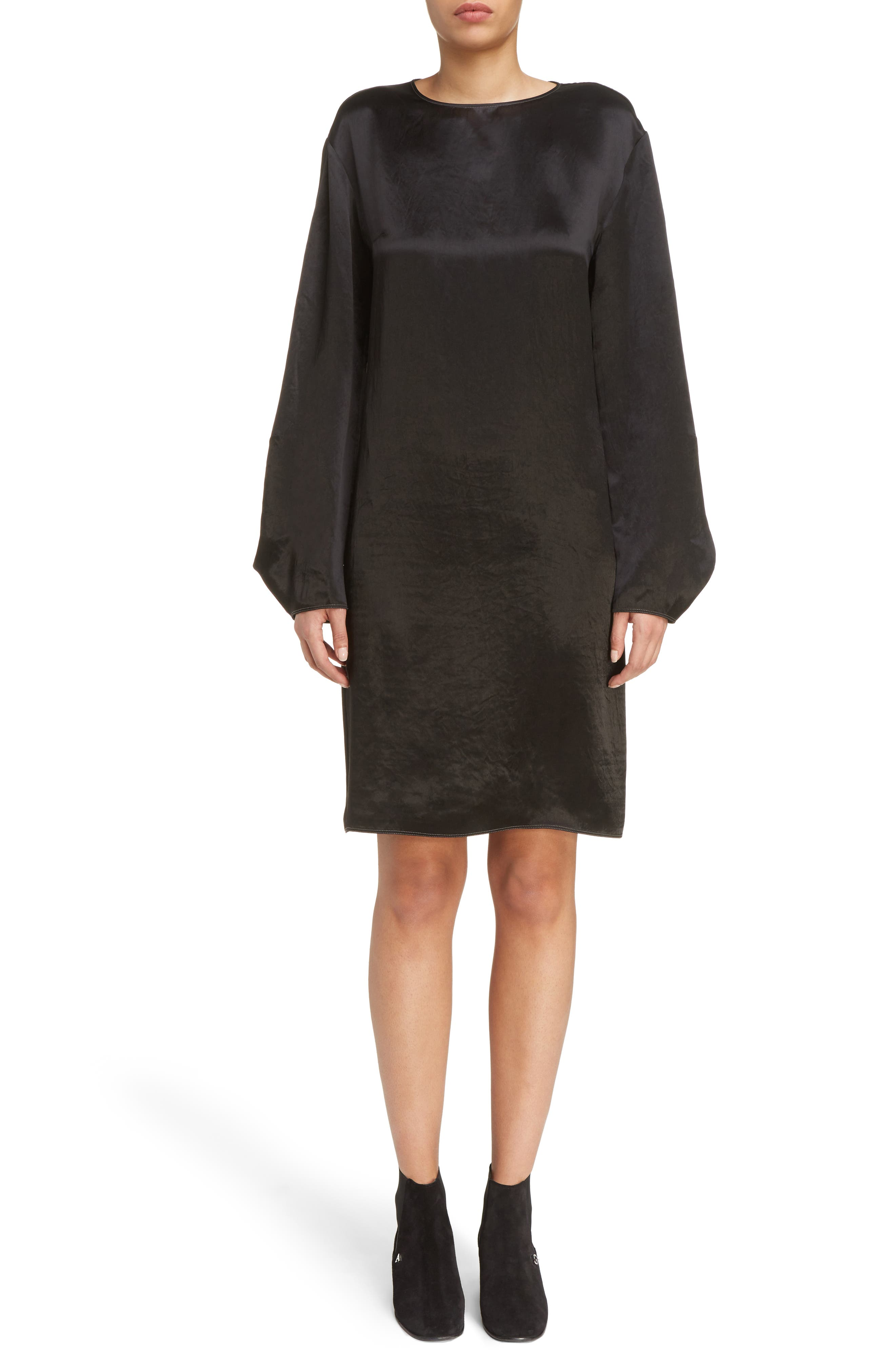 Dorina Flounce Sleeve Dress,                         Main,                         color, Black