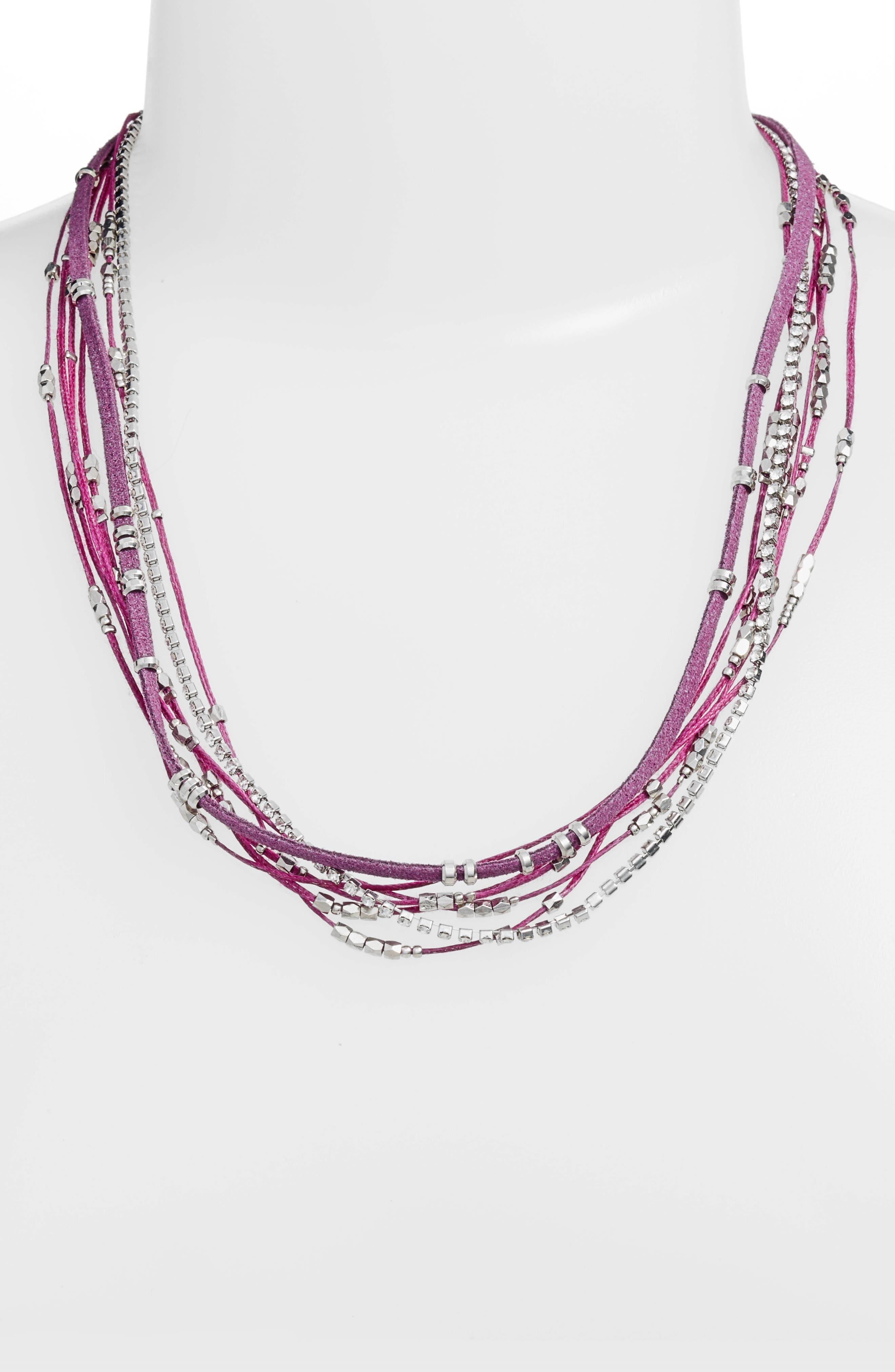 Convertible Wrap Bracelet,                             Alternate thumbnail 2, color,                             Violet