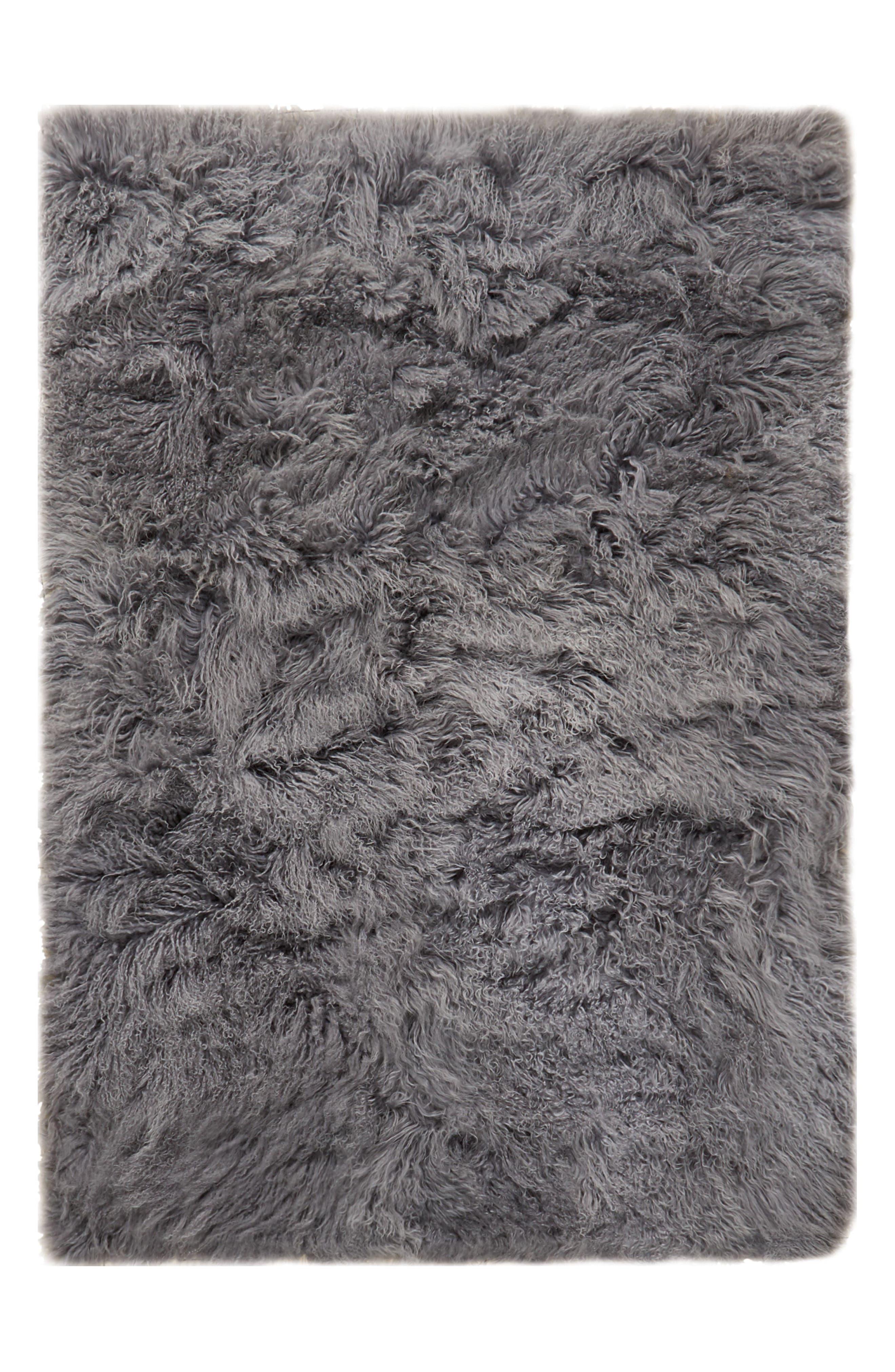 Main Image - Calvin Klein Moritz Matterhorn Genuine Shearling Area Rug
