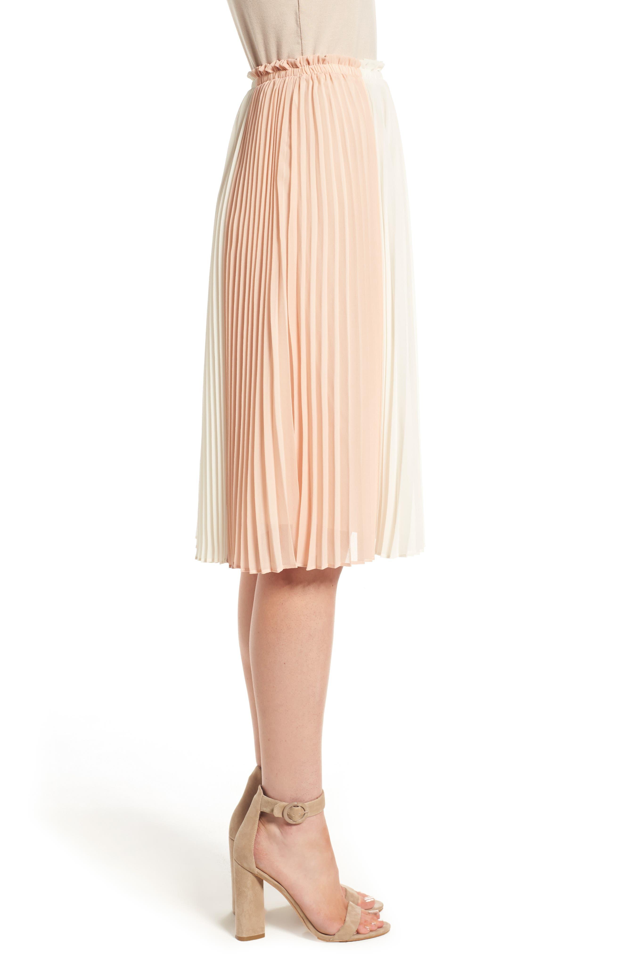 Alternate Image 3  - June & Hudson Colorblock Pleat Skirt