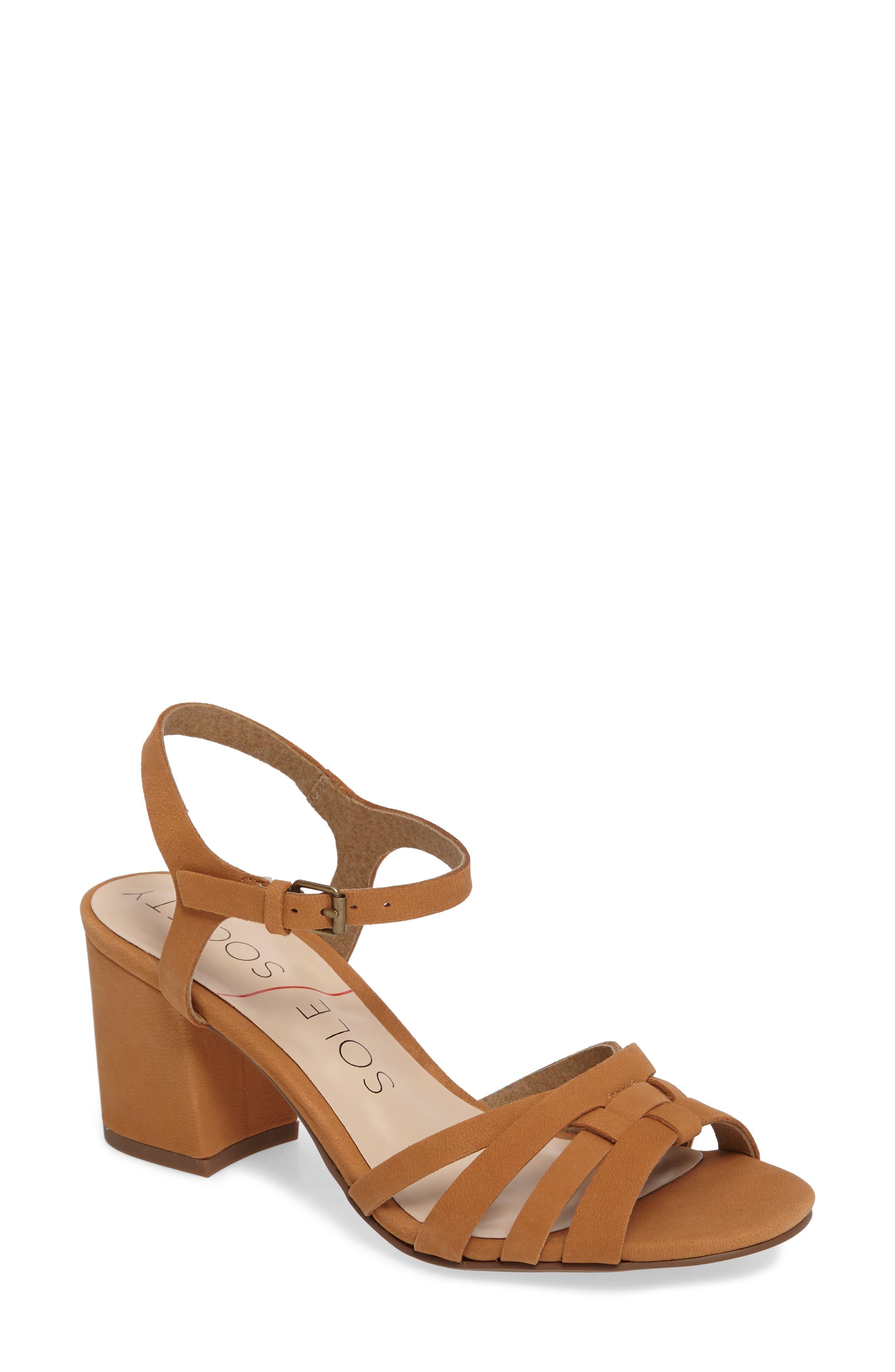SOLE SOCIETY Paulina Block Heel Sandal