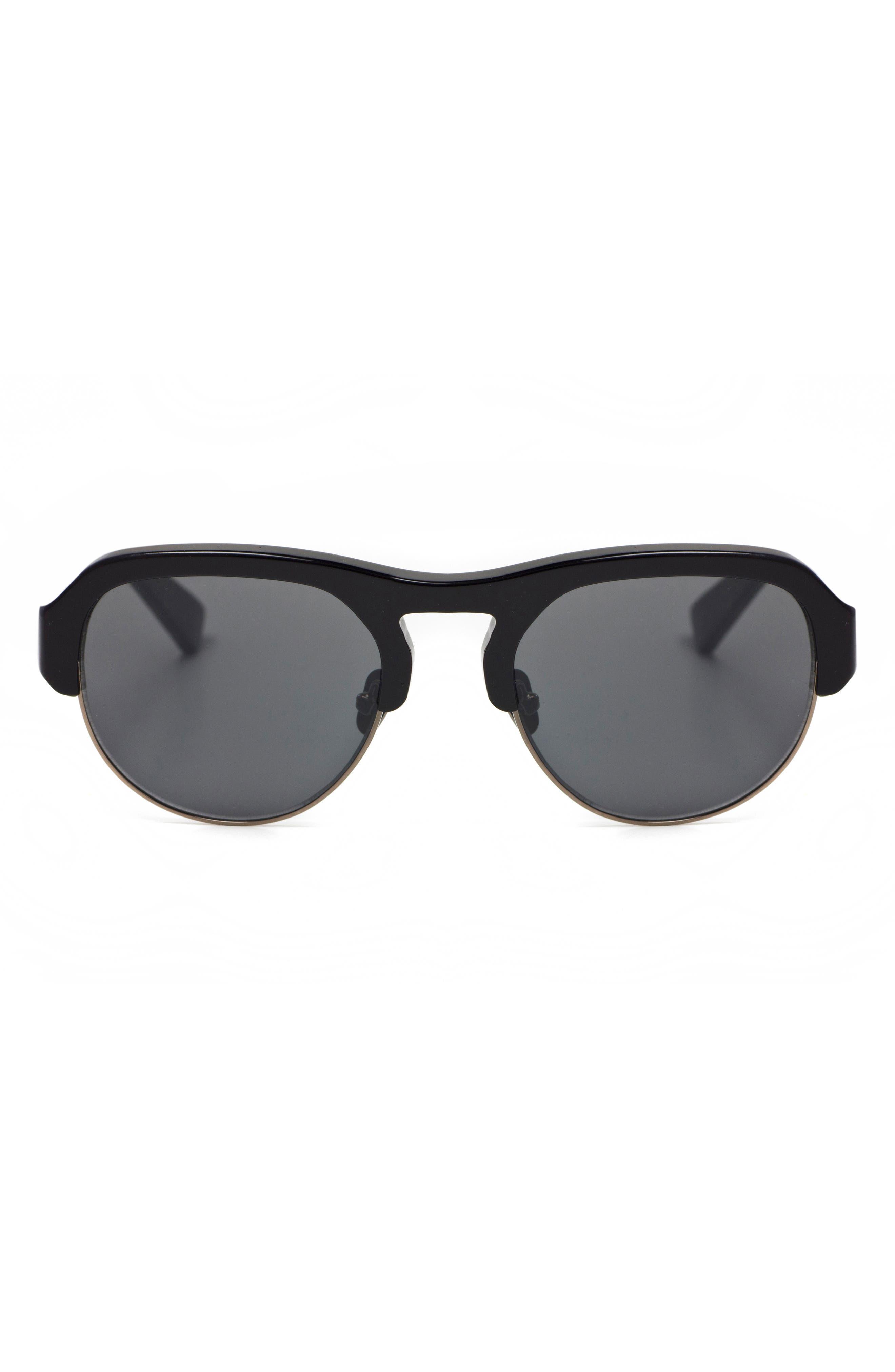 Nomad 52mm Sunglasses,                             Alternate thumbnail 3, color,                             Black/ Gunmetal