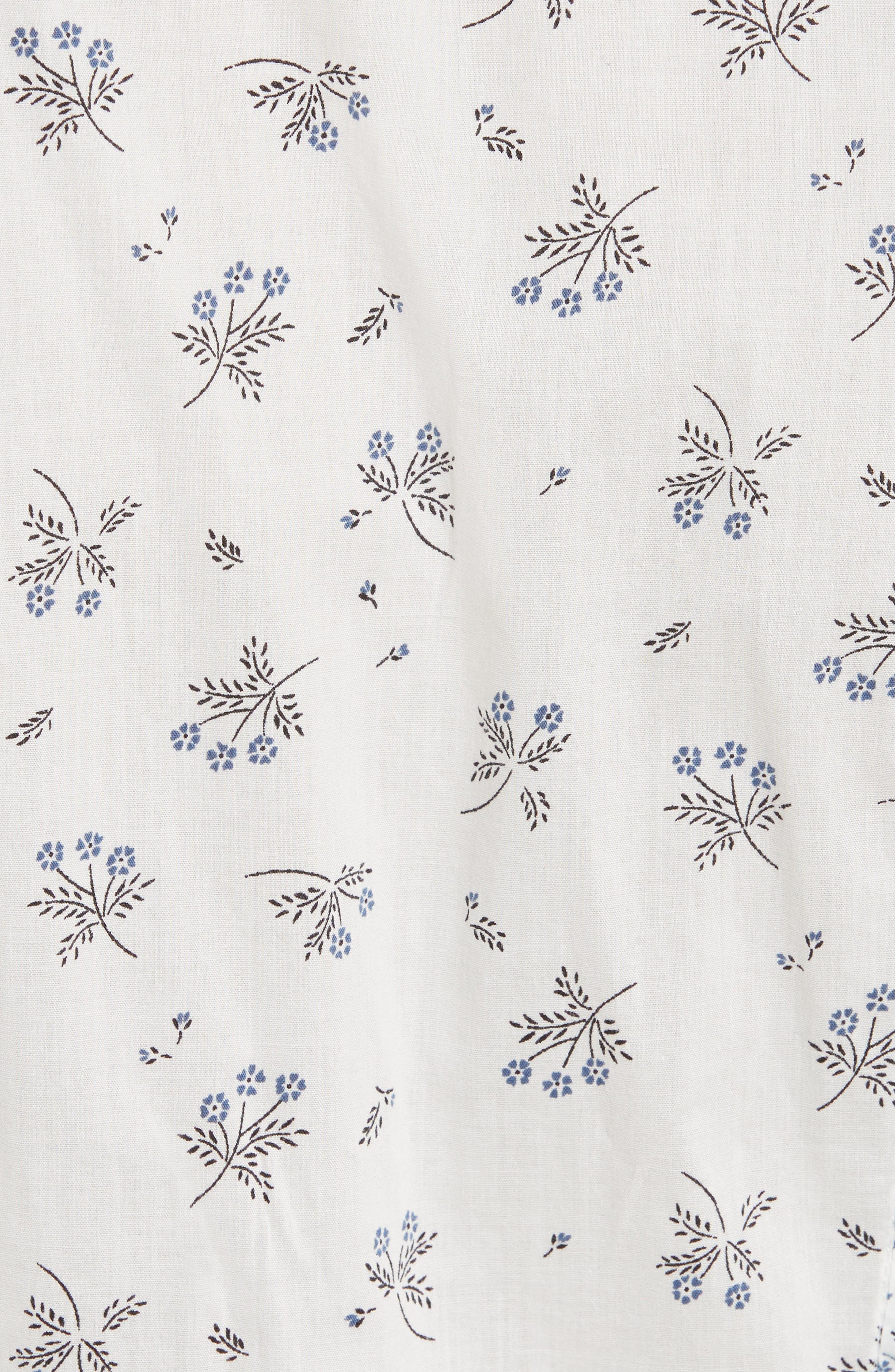 Alternate Image 5  - La Vie Rebecca Taylor Breeze Print Ruffle Shirtdress