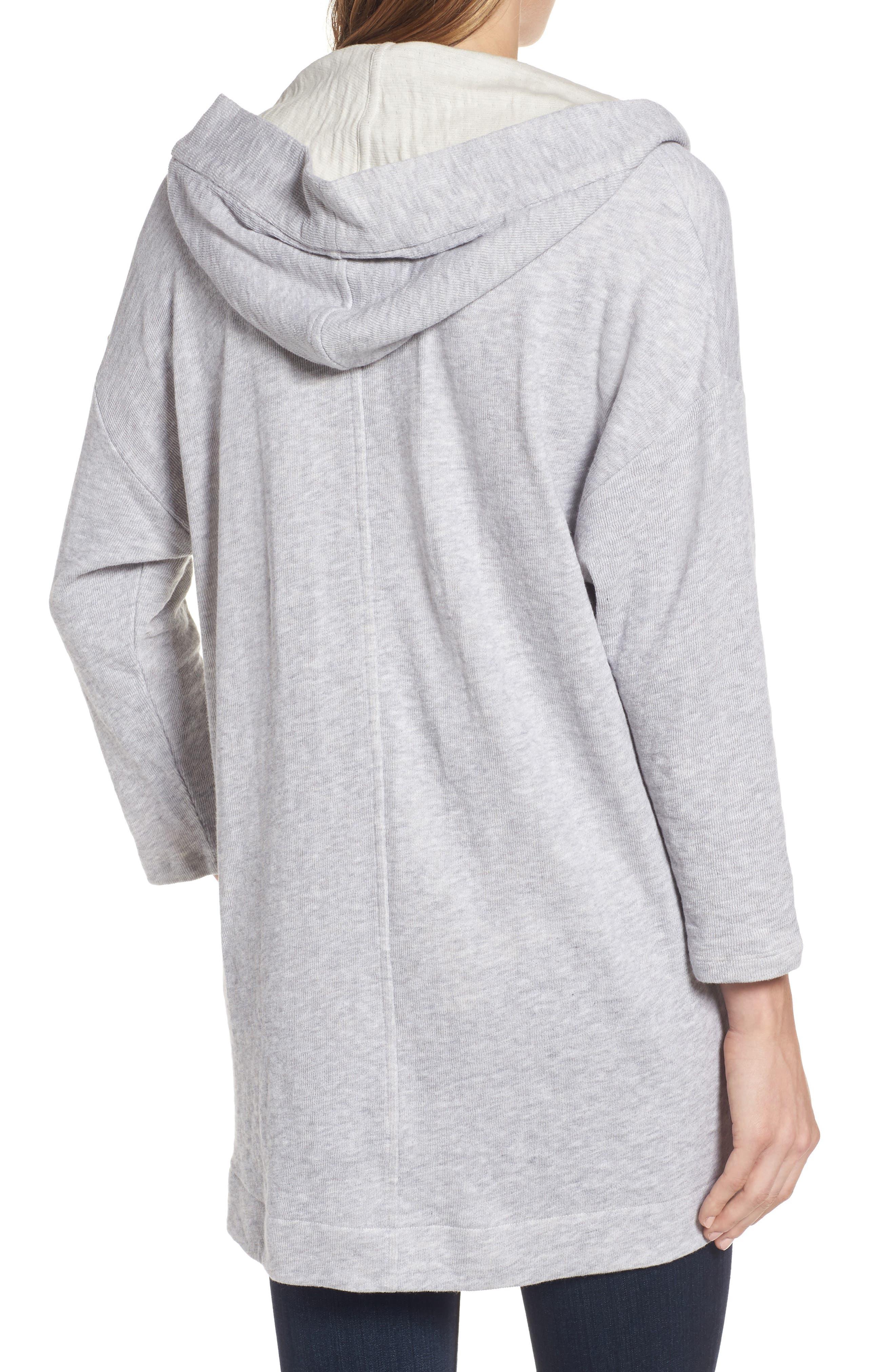 Organic Cotton Knit Hooded Jacket,                             Alternate thumbnail 2, color,                             Dark Pearl