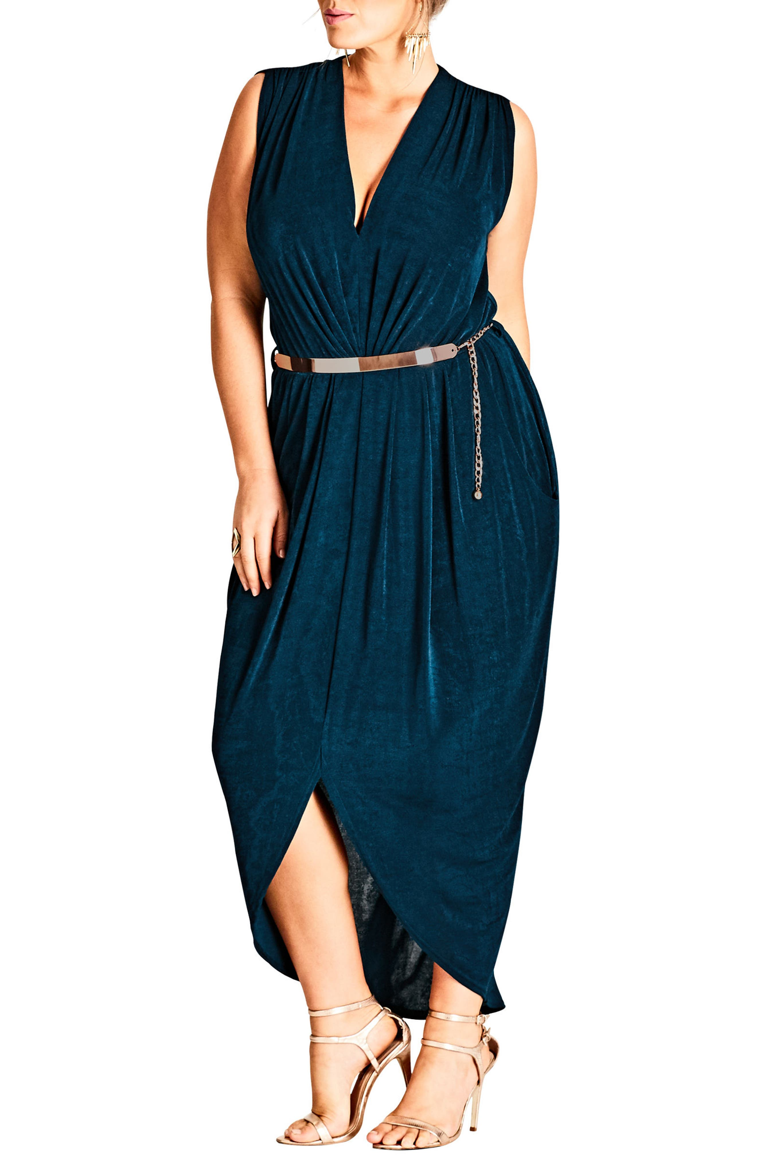 Main Image - City Chic Sexy Slink Maxi Dress (Plus Size)