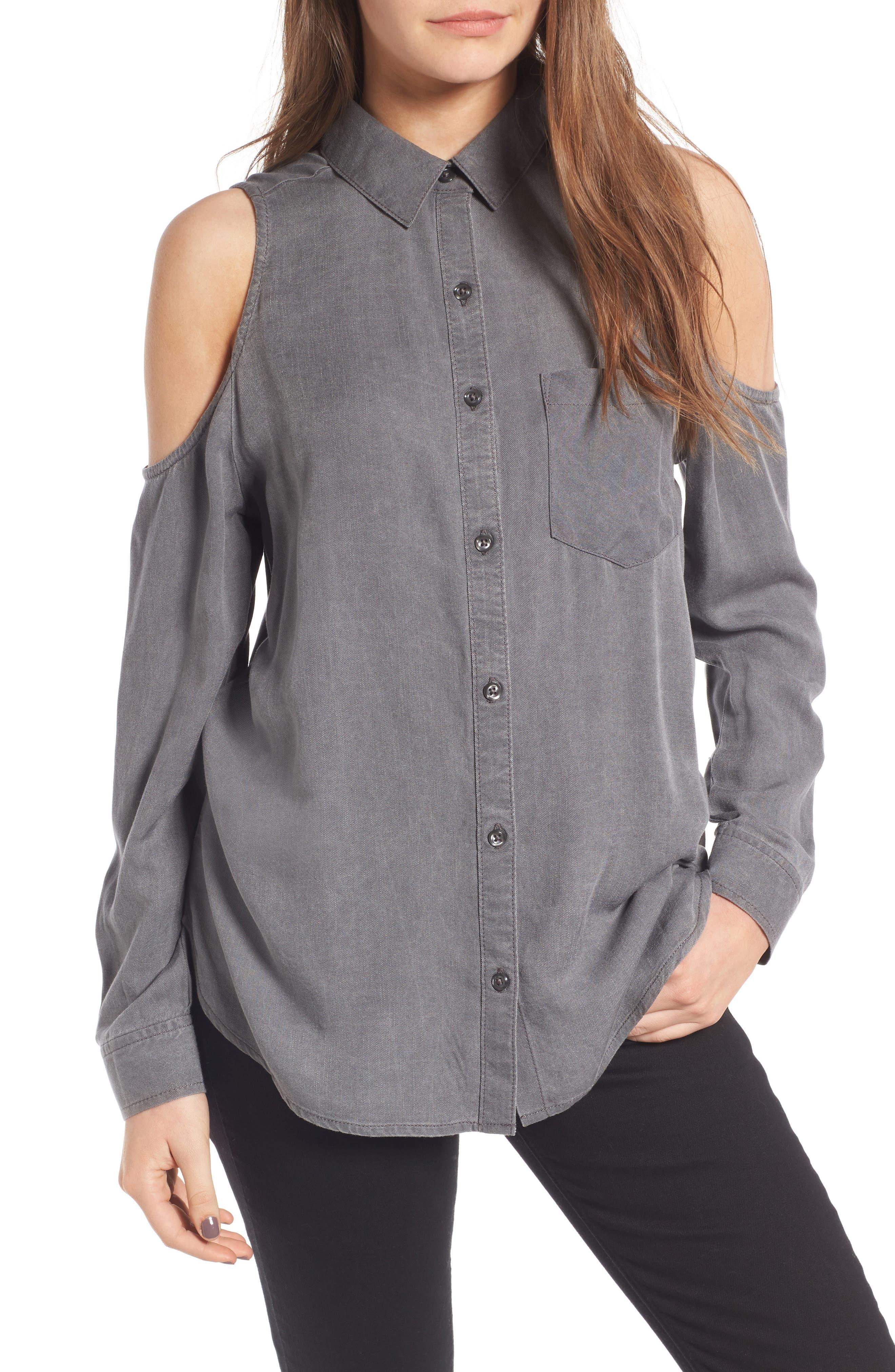 BP. Cold Shoulder Shirt