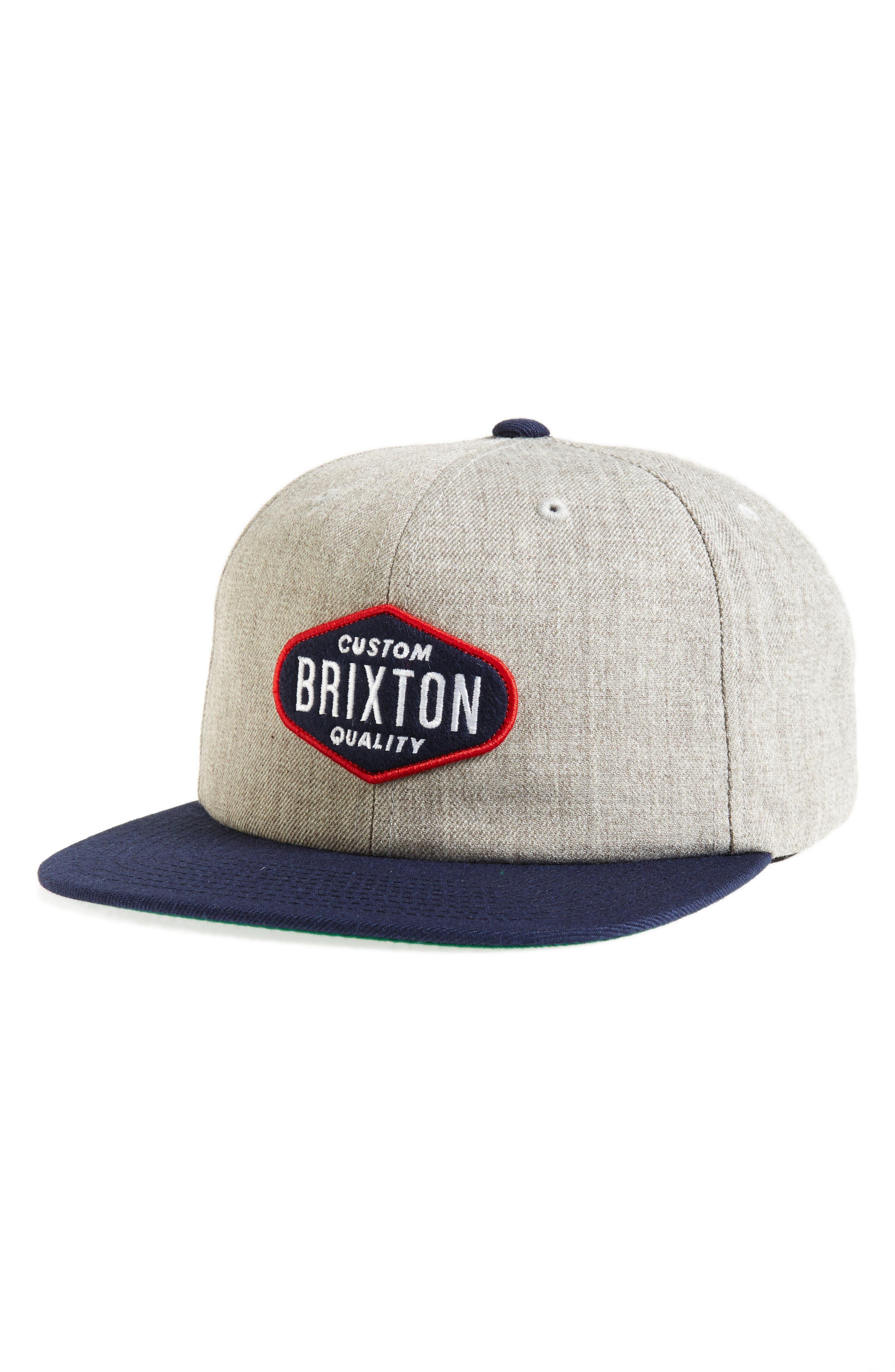 Oakland Snapback Cap,                         Main,                         color, Light Heather Grey