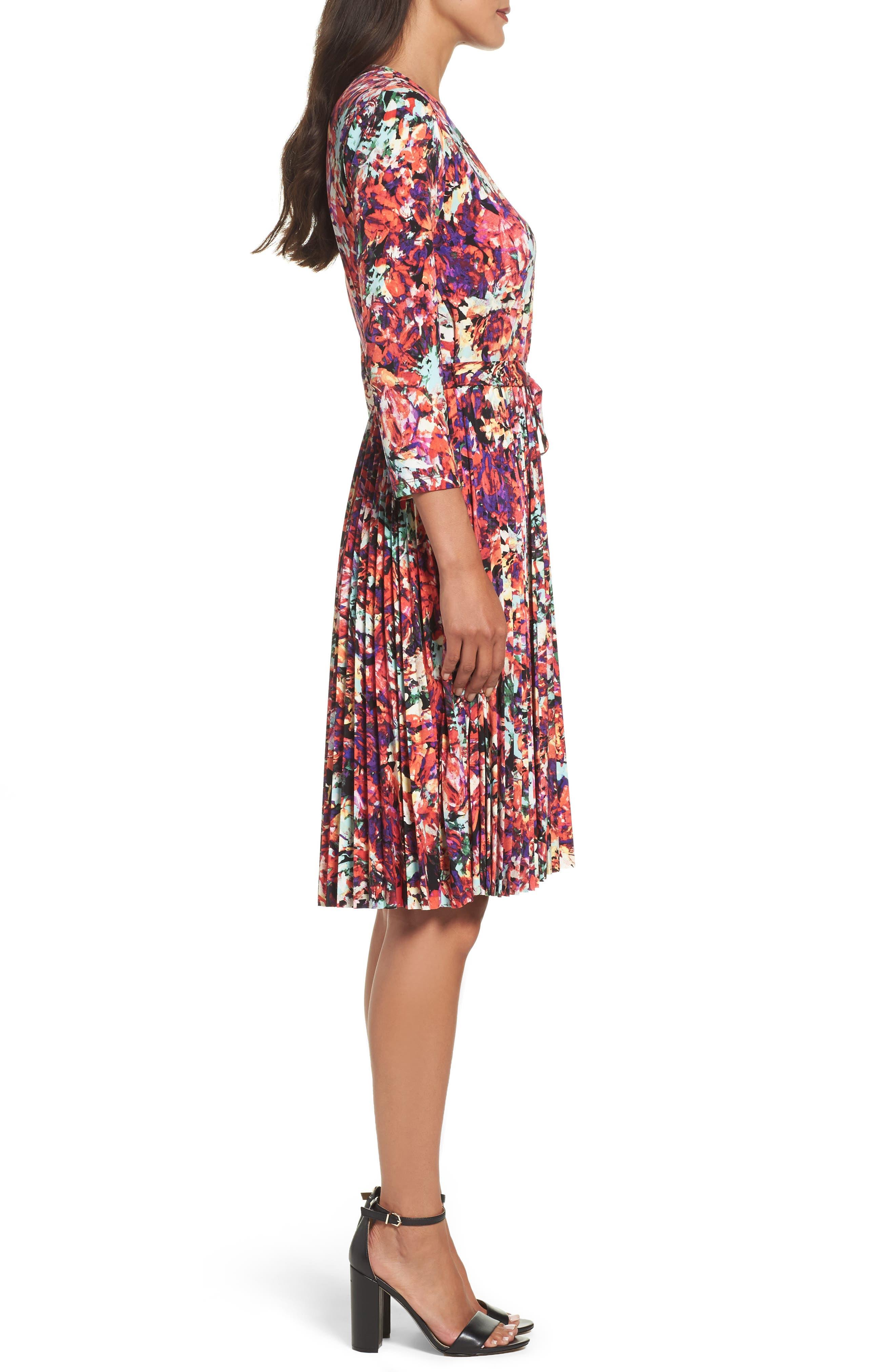 Alternate Image 3  - Maggy London Print Fit & Flare Dress (Regular & Petite)
