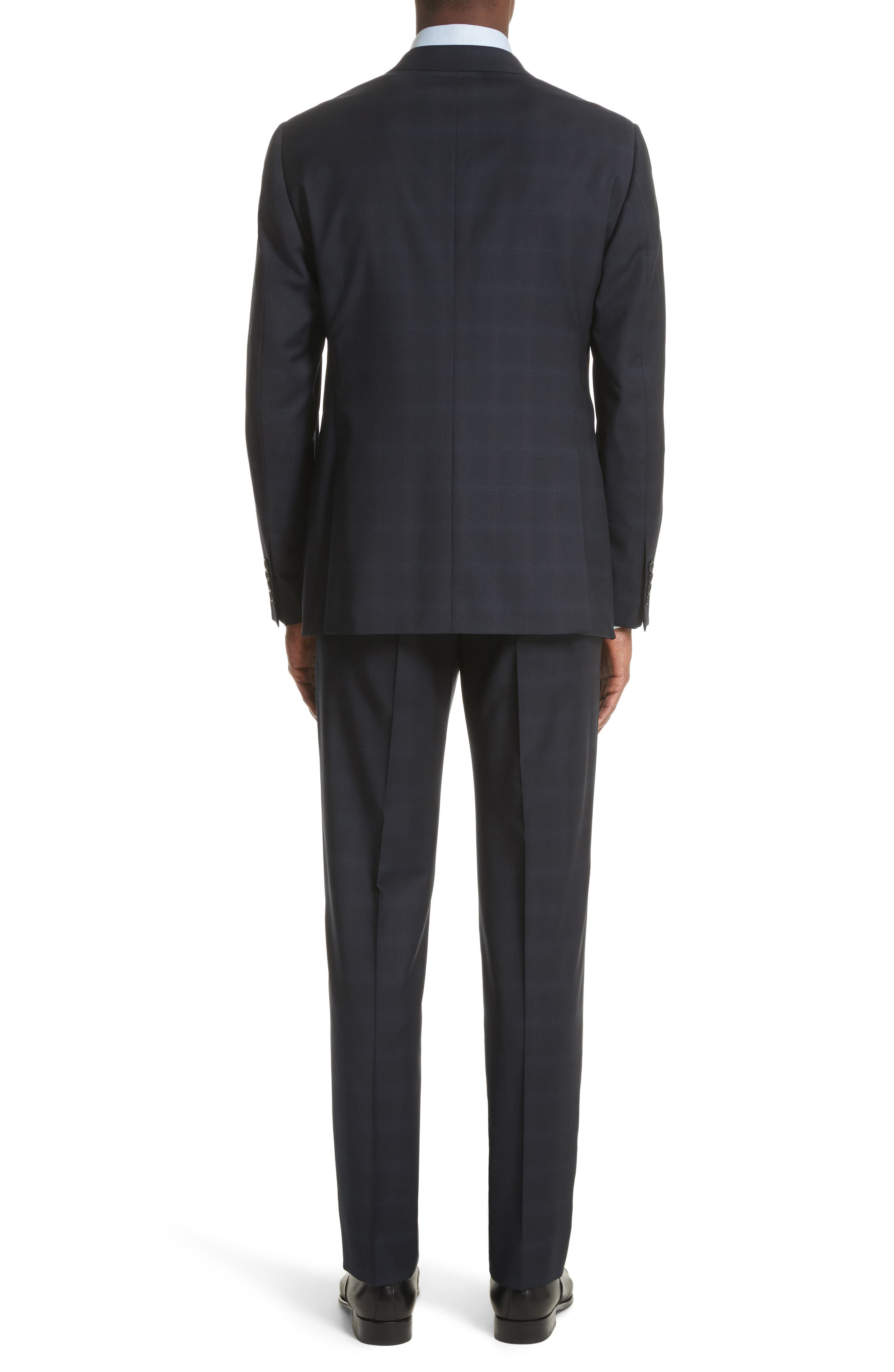 Alternate Image 2  - Armani Collezioni Trim Fit Plaid Wool Suit