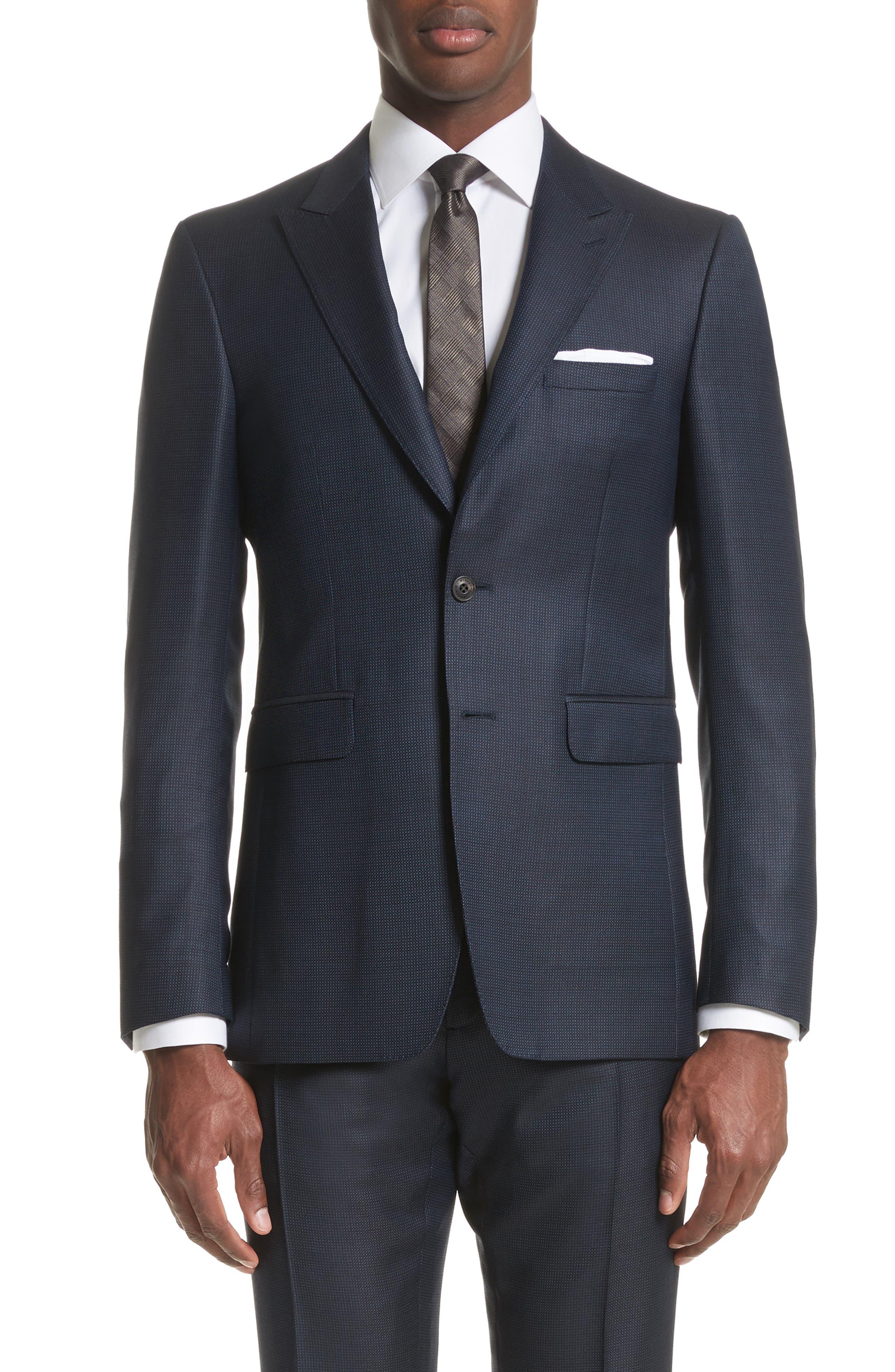 Alternate Image 4  - Burberry Millbank Trim Fit Wool & Silk Suit