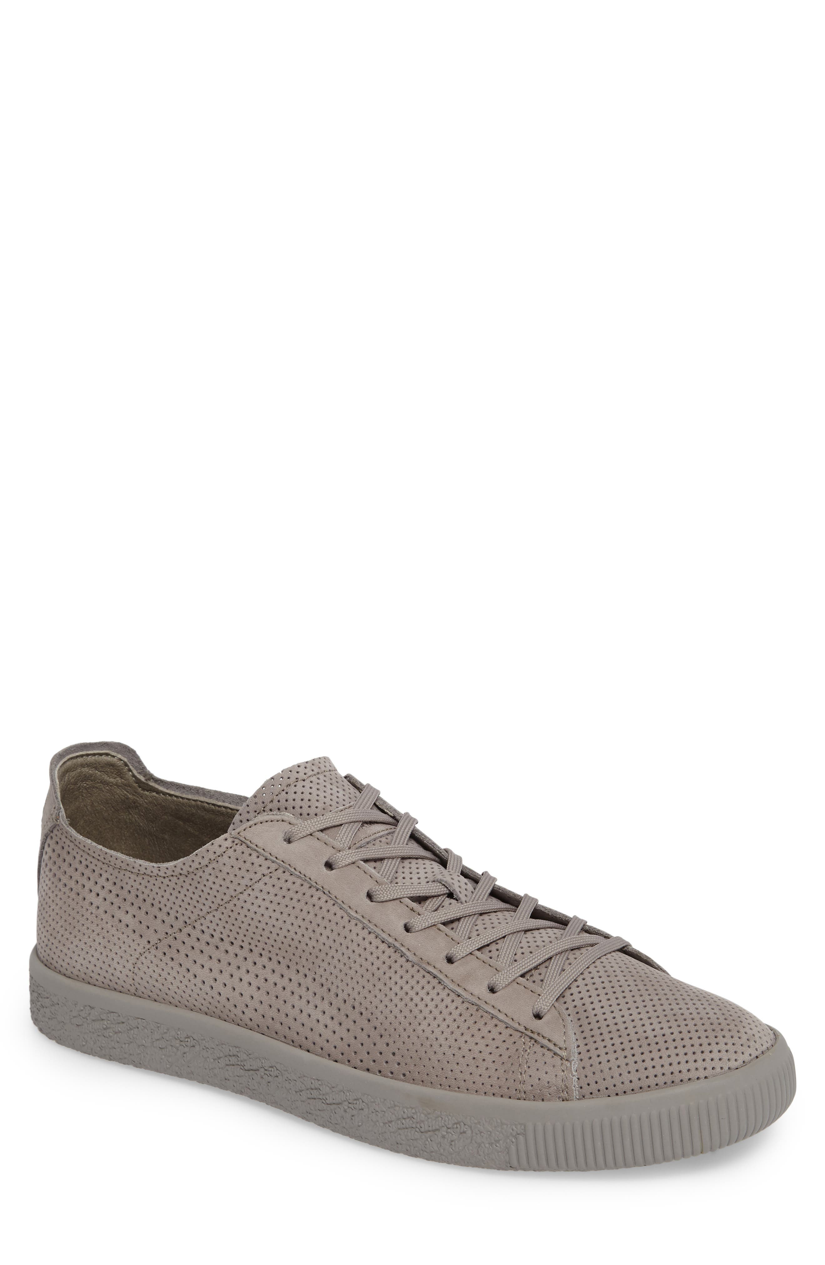 Stampd Clyde Sneaker,                         Main,                         color, Drizzle/ Drizzle Leather