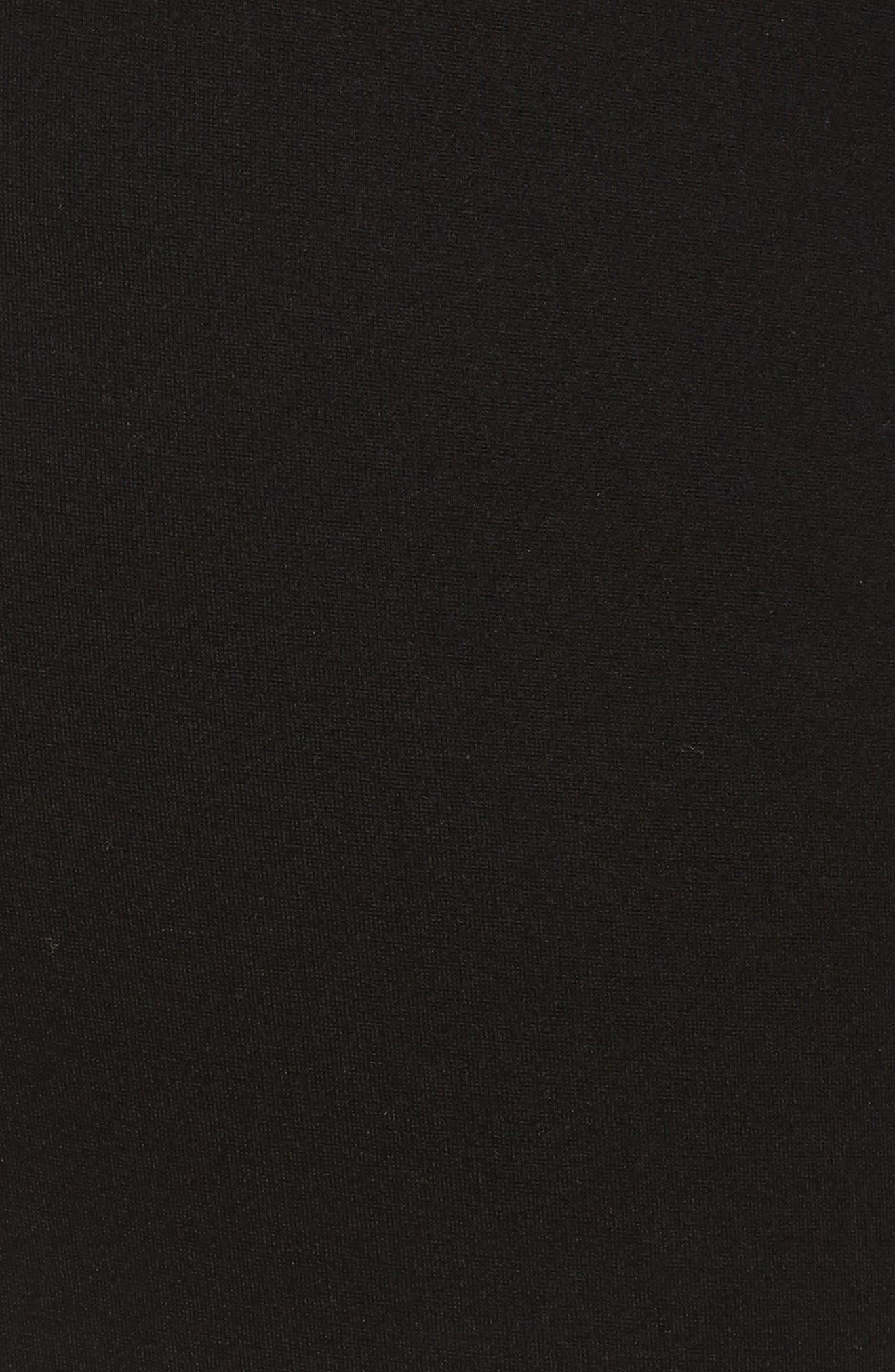 Zip Pocket Ankle Leggings,                             Alternate thumbnail 6, color,                             Black
