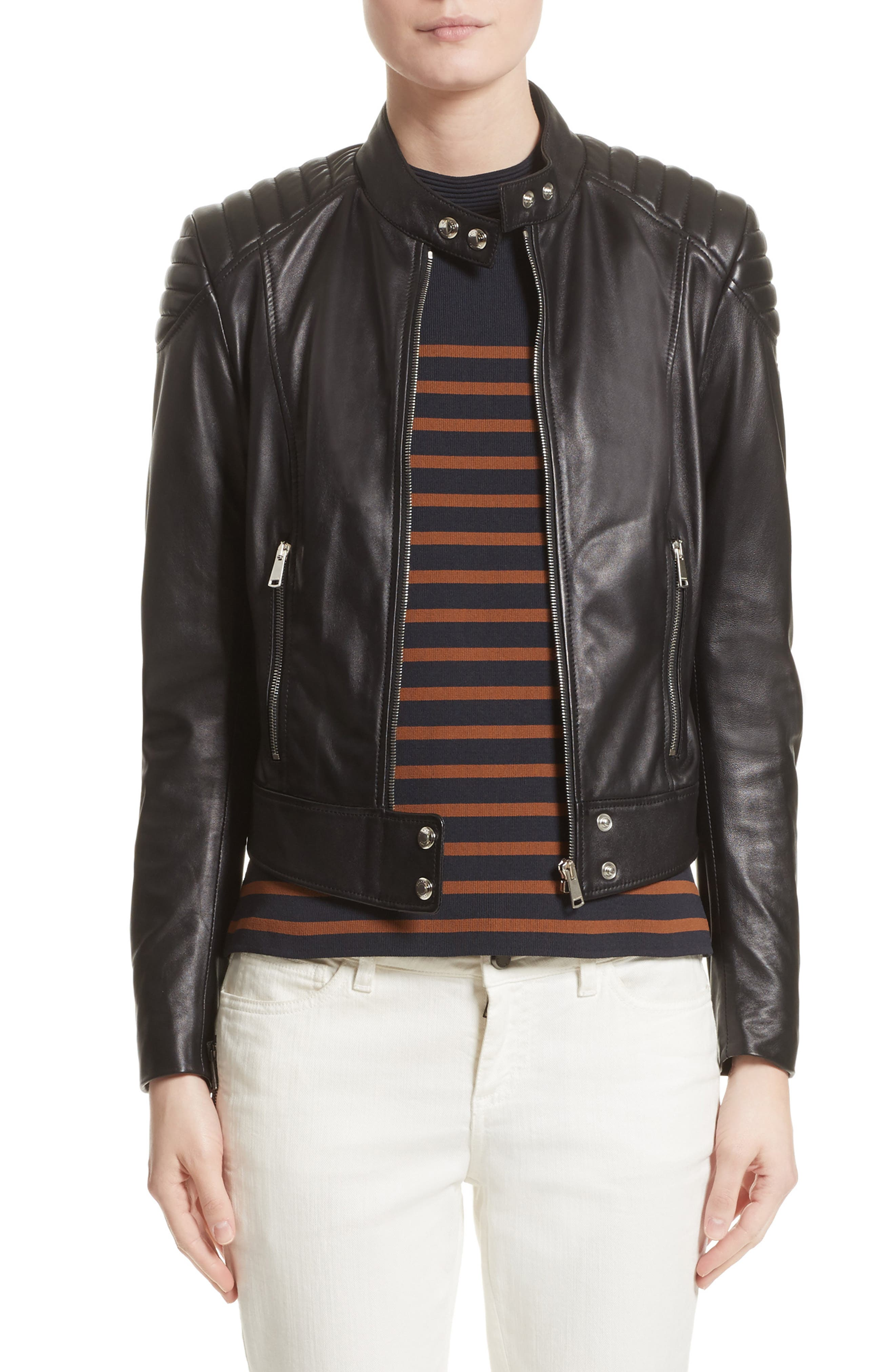 Alternate Image 1 Selected - Belstaff Mollison Leather Moto Jacket