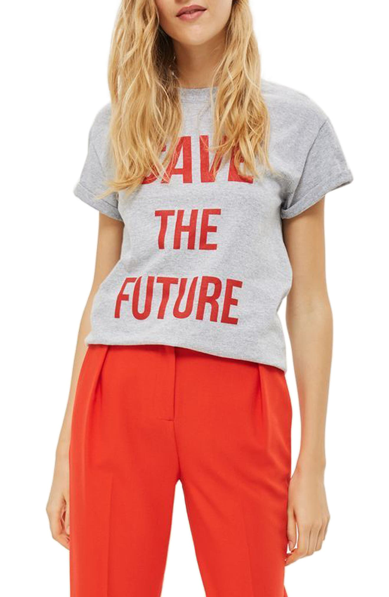 Alternate Image 1 Selected - Topshop Save the Future Tee