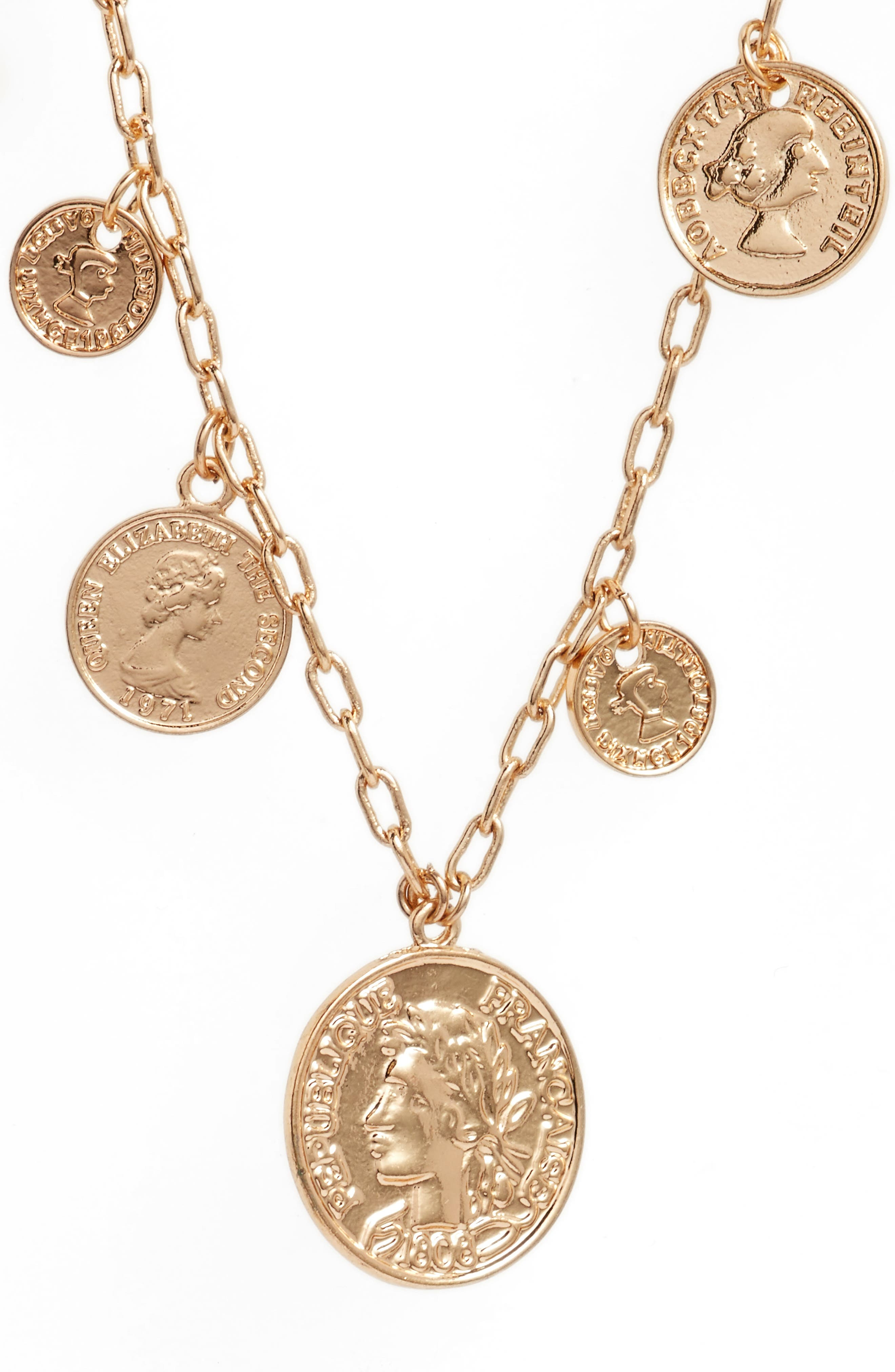 Alternate Image 2  - Ettika Coin Charm Necklace