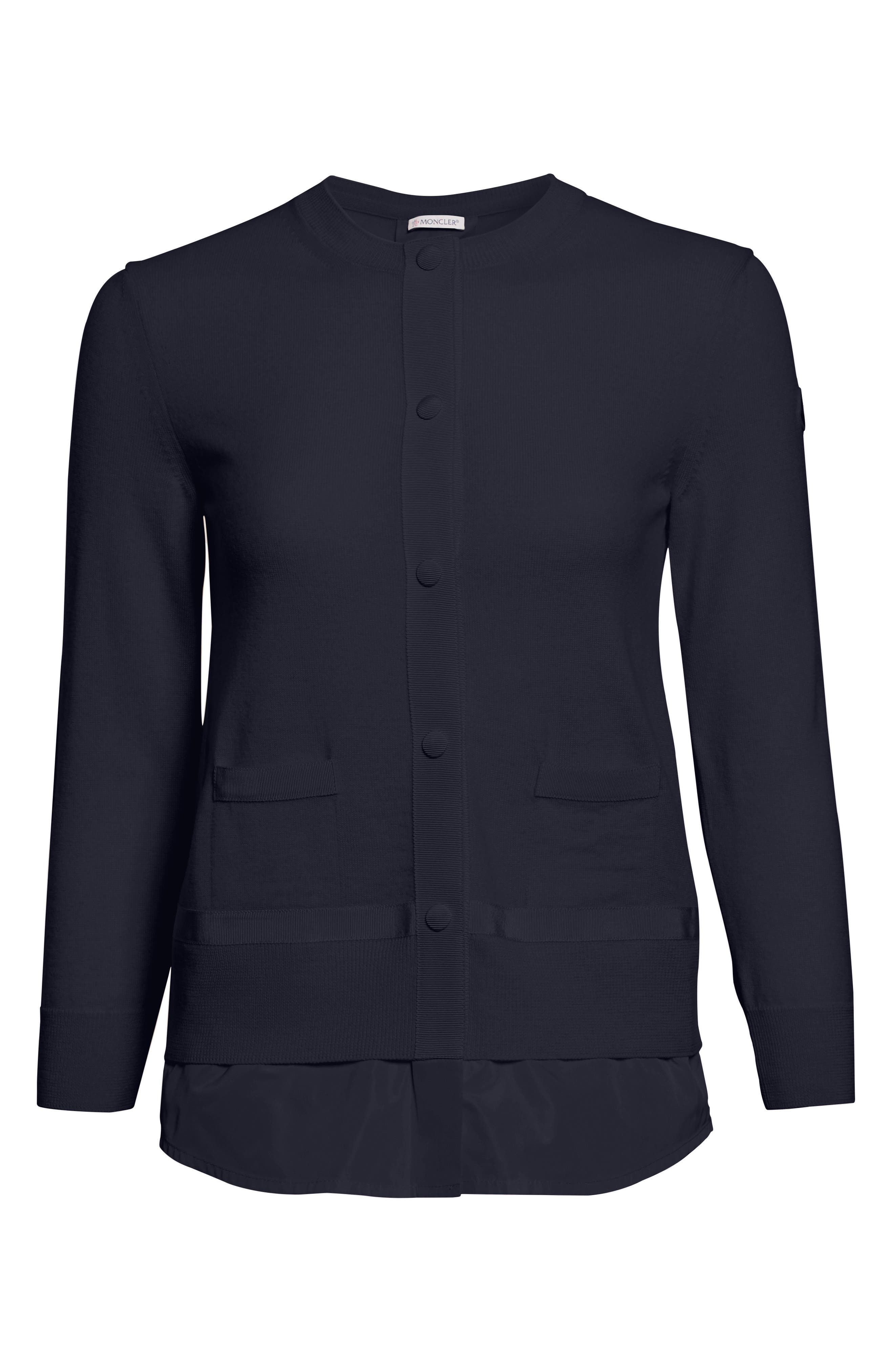 Tricot Cardigan,                             Alternate thumbnail 6, color,                             Navy
