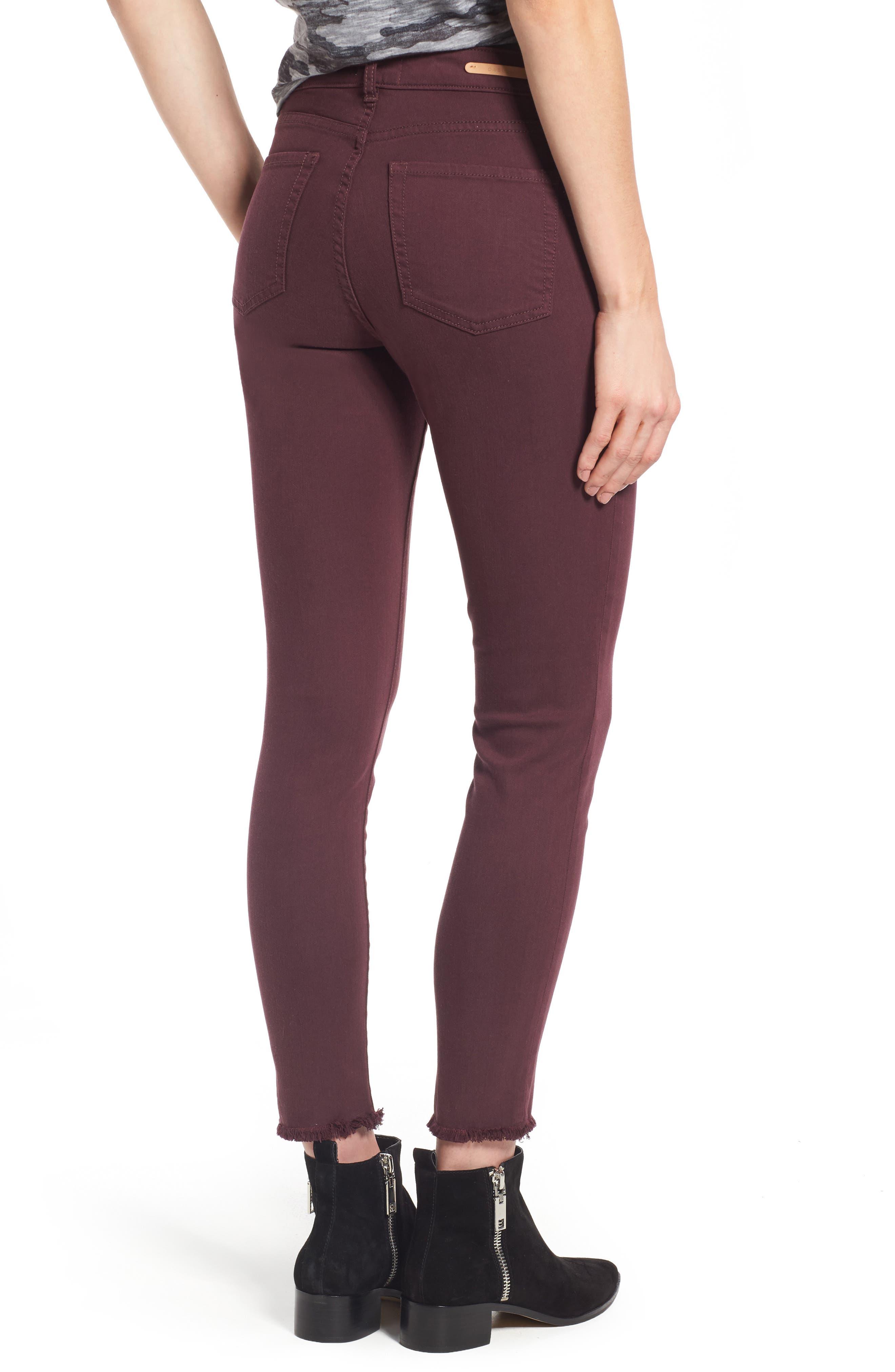 Alternate Image 2  - Caslon® Frayed Hem Skinny Ankle Jeans (Regular & Petite)