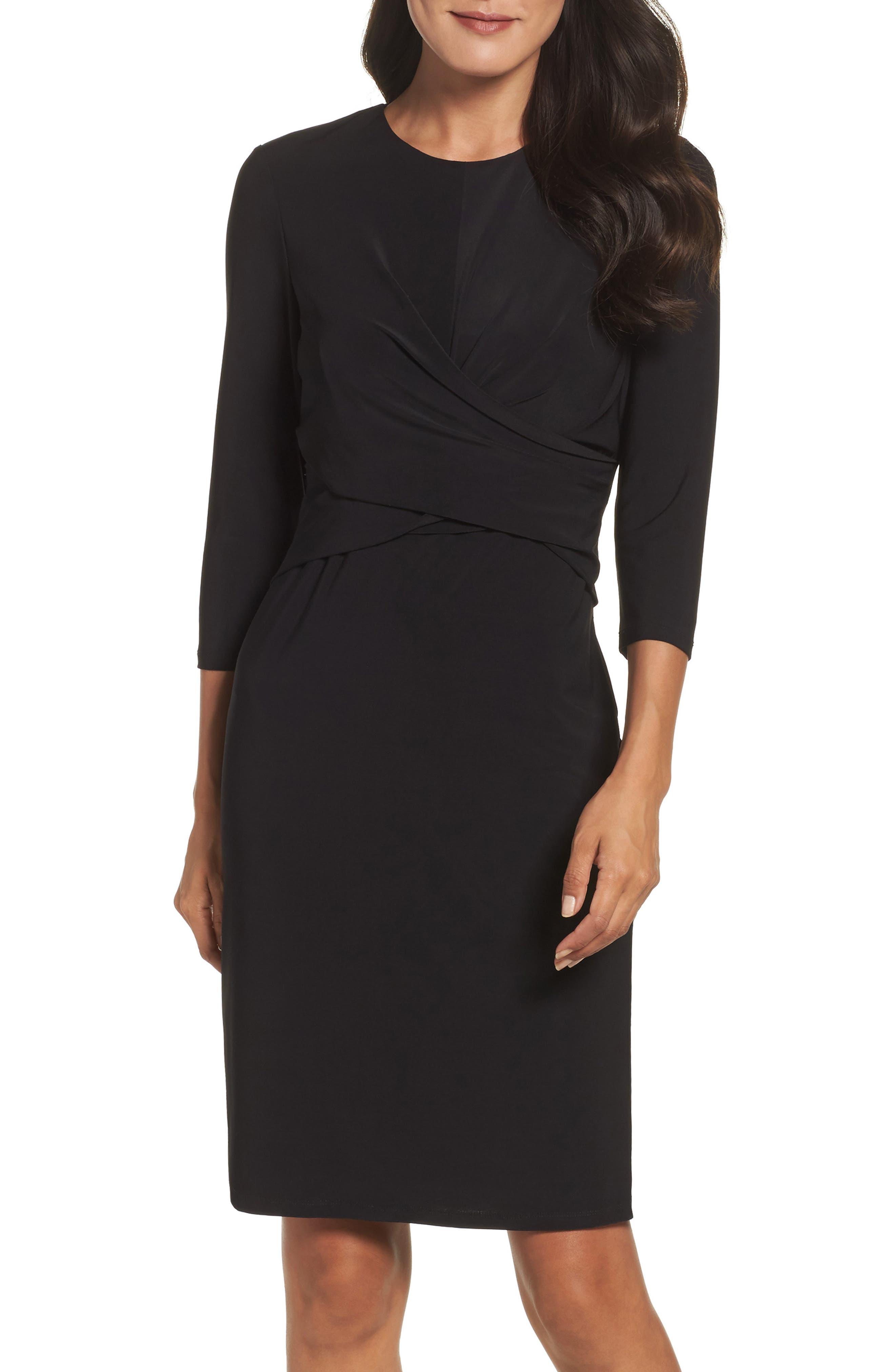 Eliza J Jersey Sheath Dress