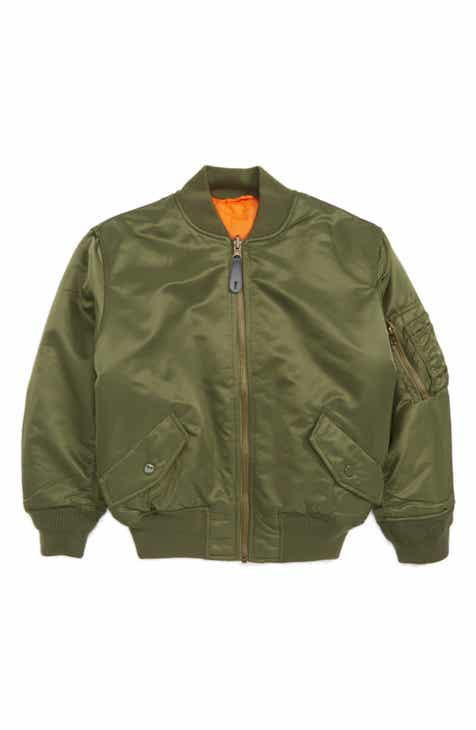 f3ca77638 Alpha Industries MA-1 Water Resistant Flight Jacket (Toddler Boys & Little  Boys)
