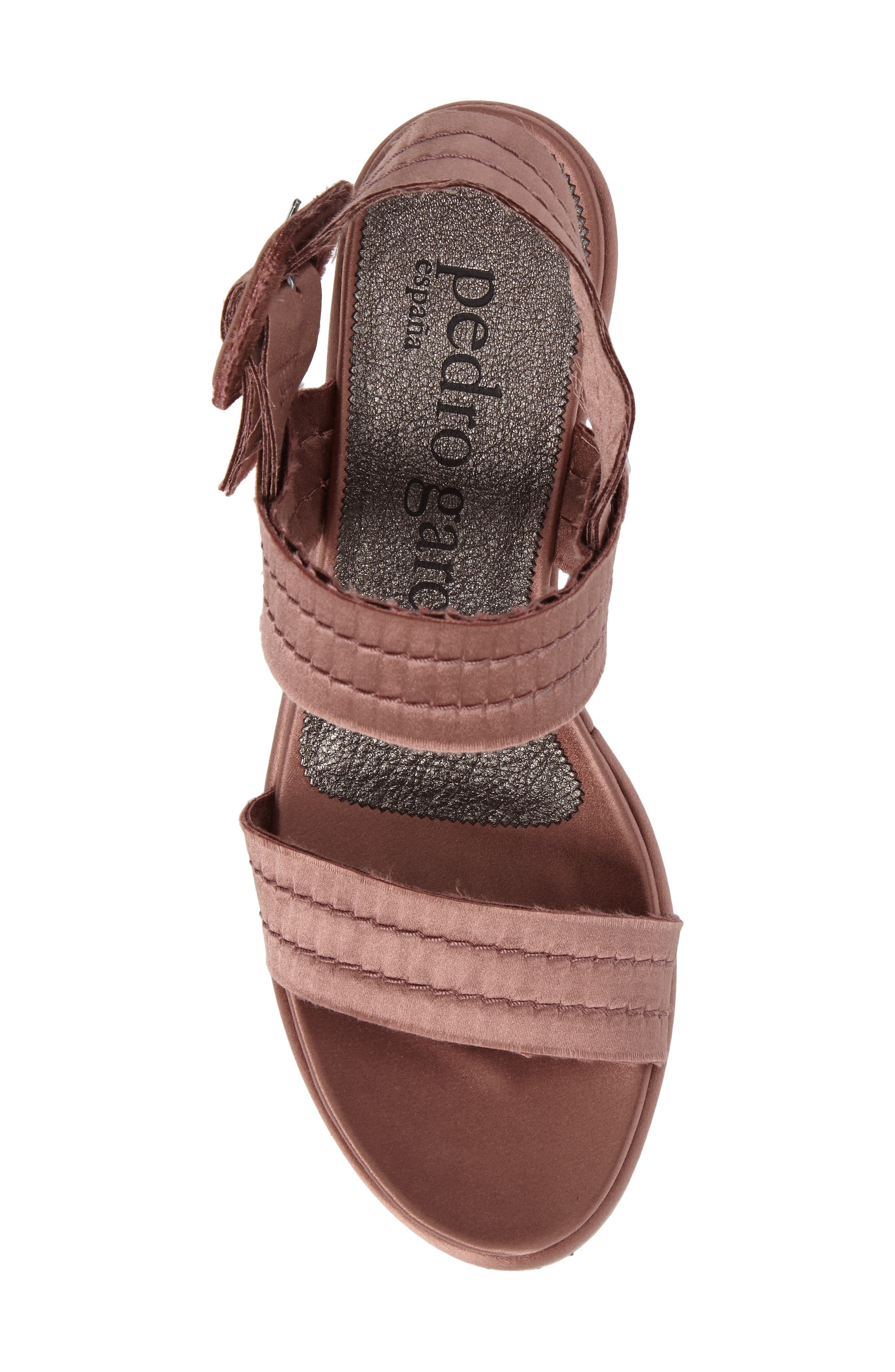 Decima Platform Sandal,                             Alternate thumbnail 5, color,                             Powder Satin