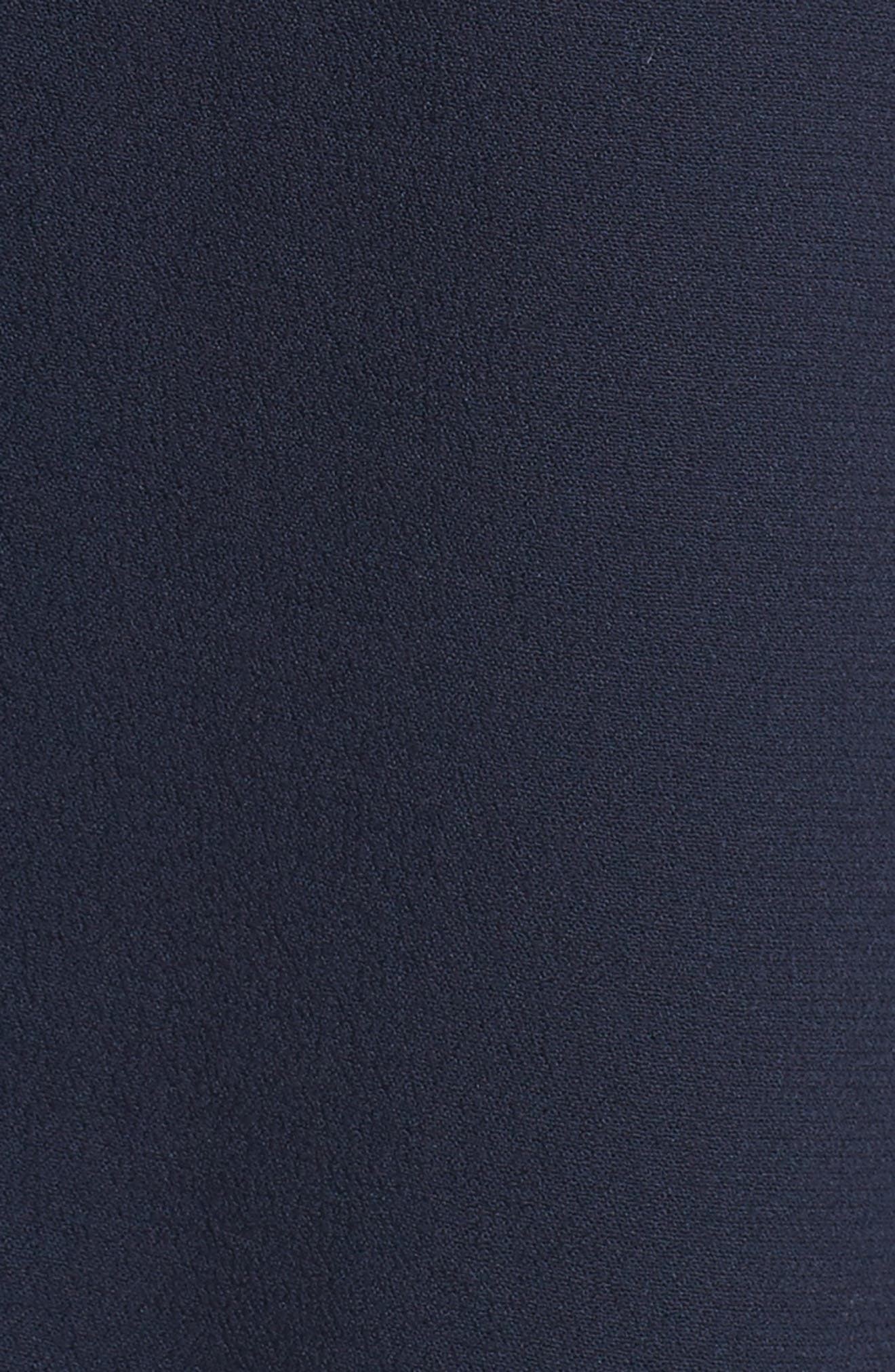 Ruffle Wrap Skirt,                             Alternate thumbnail 5, color,                             Navy Sapphire