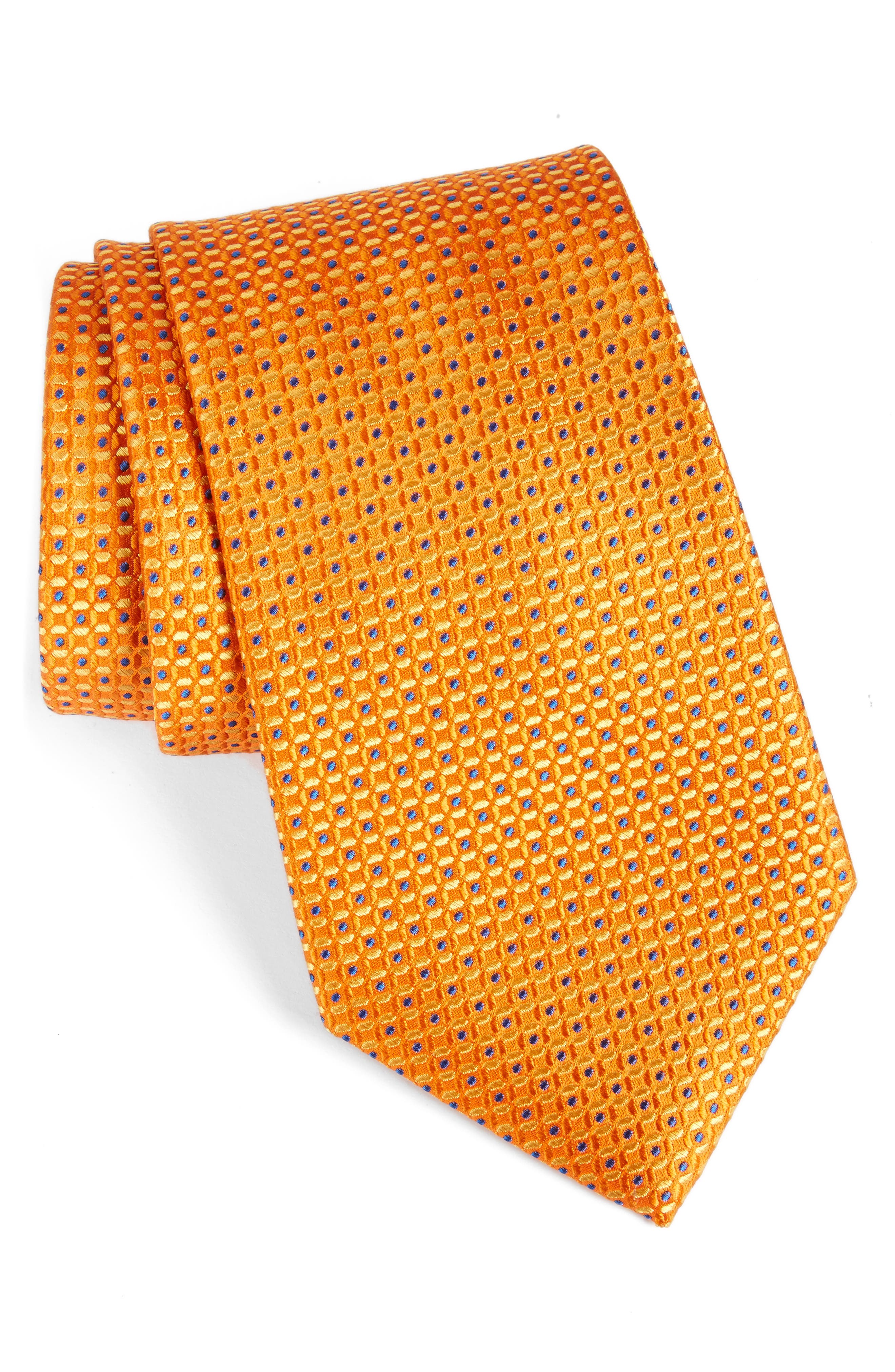 NORDSTROM MENS SHOP Dot Silk Tie