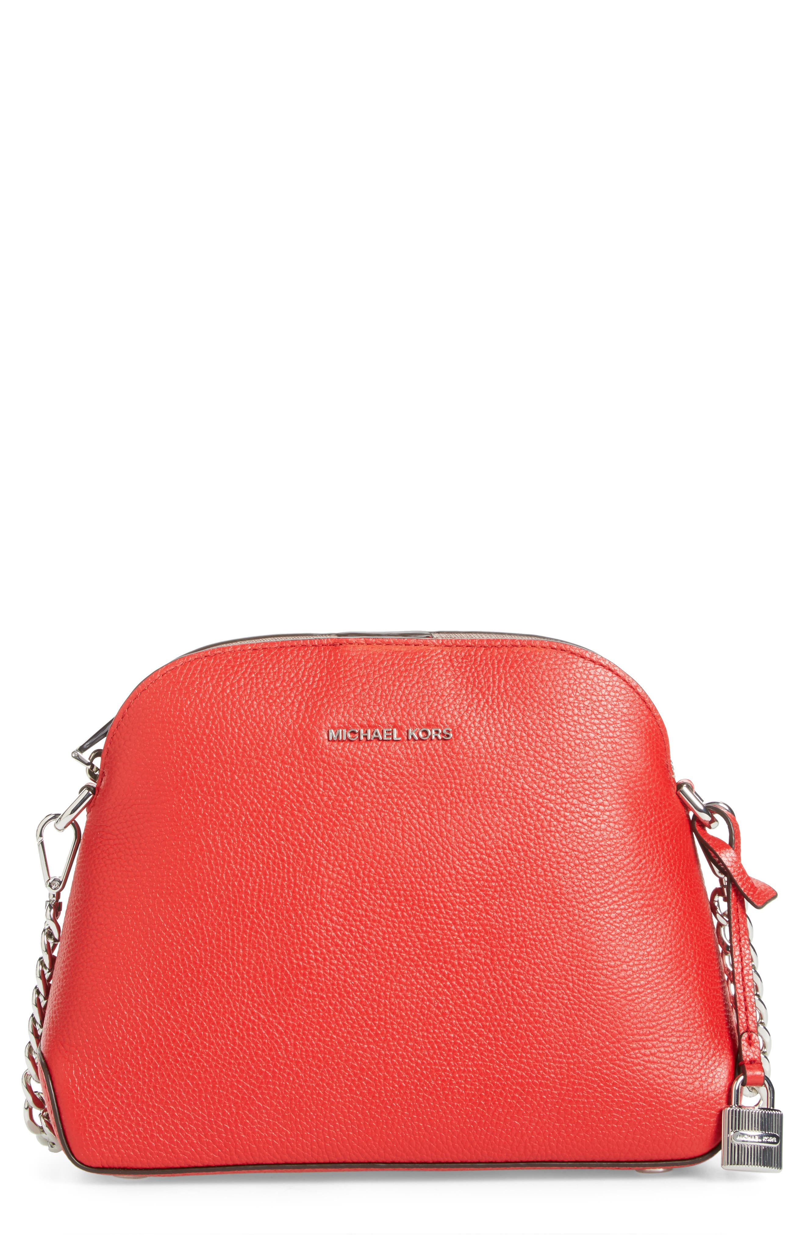 MICHAEL MICHAEL KORS MICHAEL by Michael Kors Medium Mercer Leather Dome Satchel
