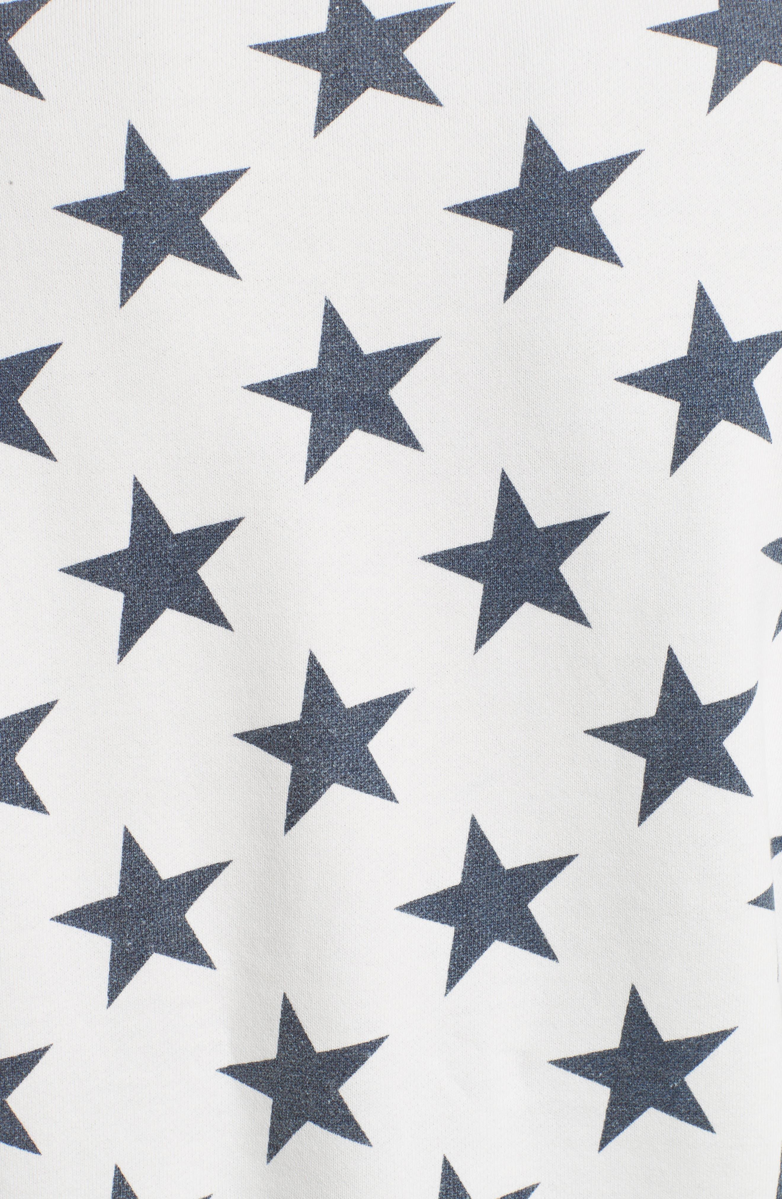 '90s Star Print Sweatshirt,                             Alternate thumbnail 3, color,                             Ivory Multi