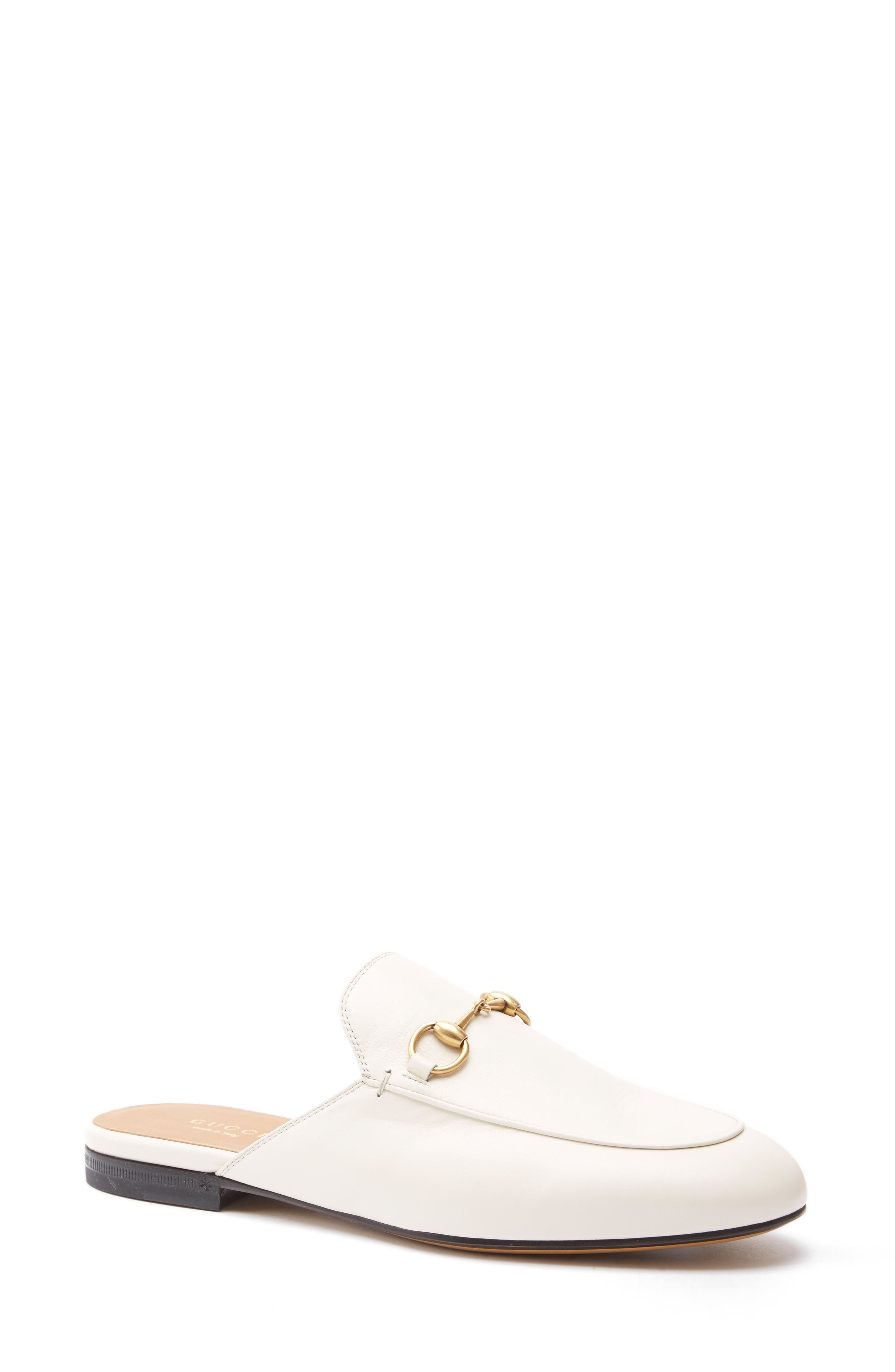 gucci shoes white. main image - gucci princetown loafer mule (women) shoes white e