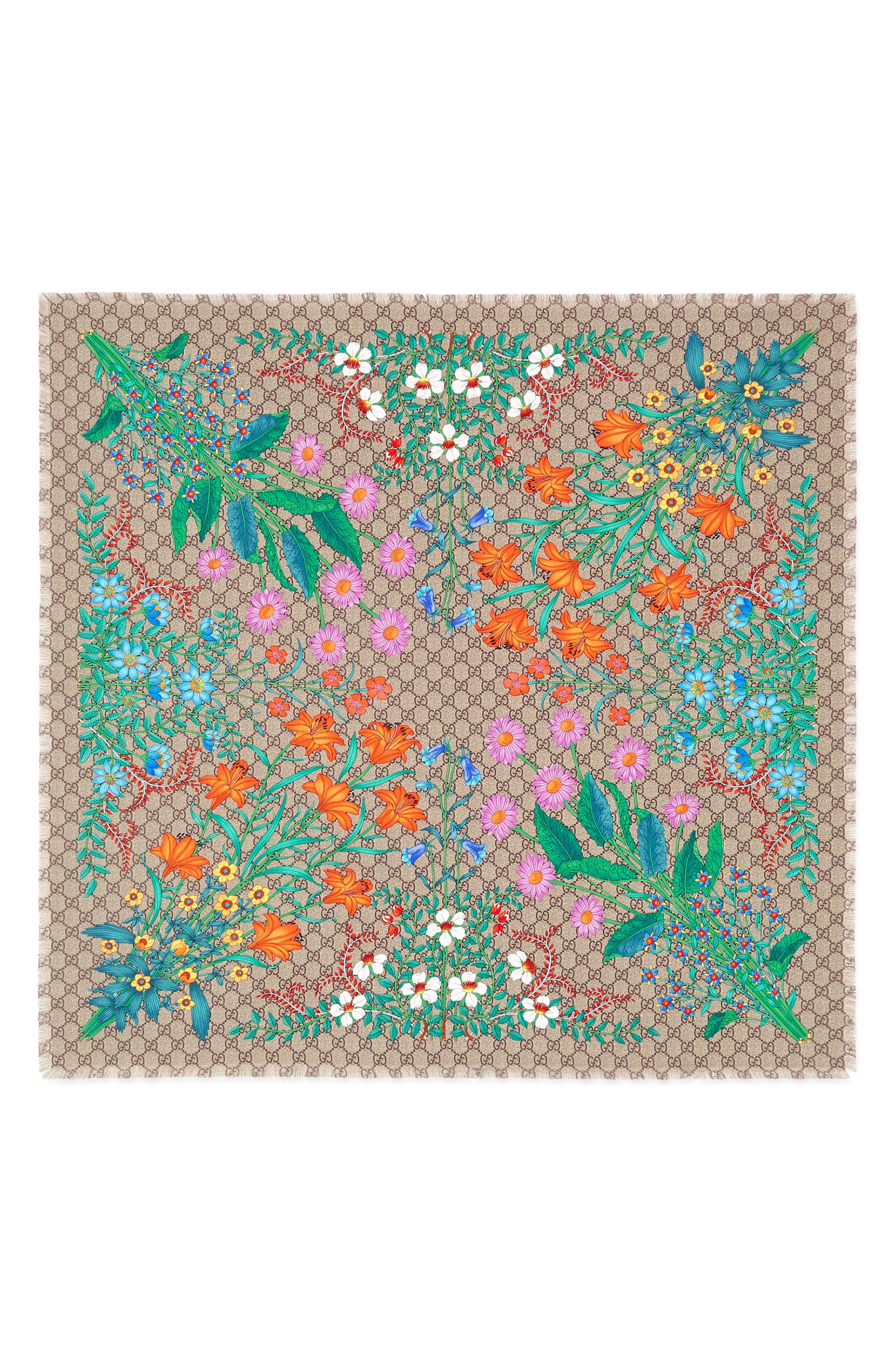 Gucci GG New Floral Scarf
