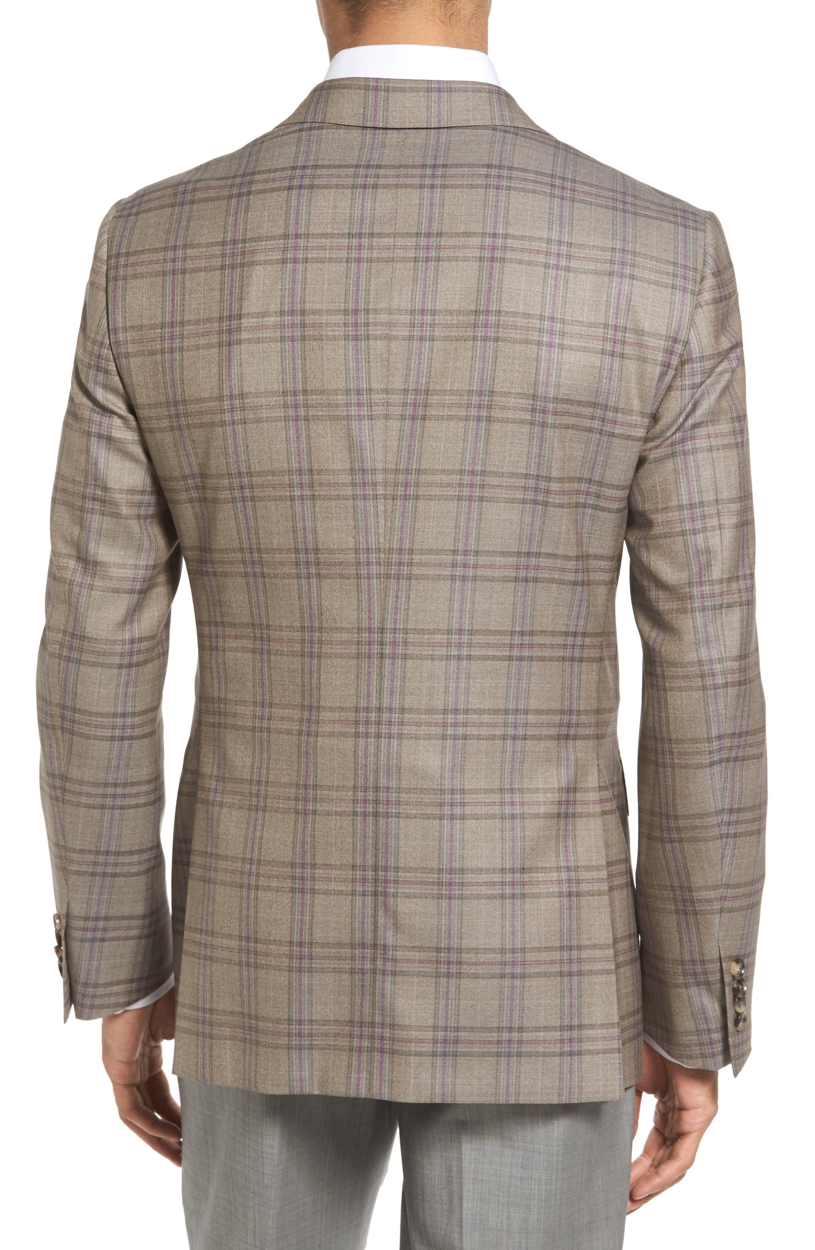 Alternate Image 2  - Pal Zileri Classic Fit Plaid Wool Sport Coat