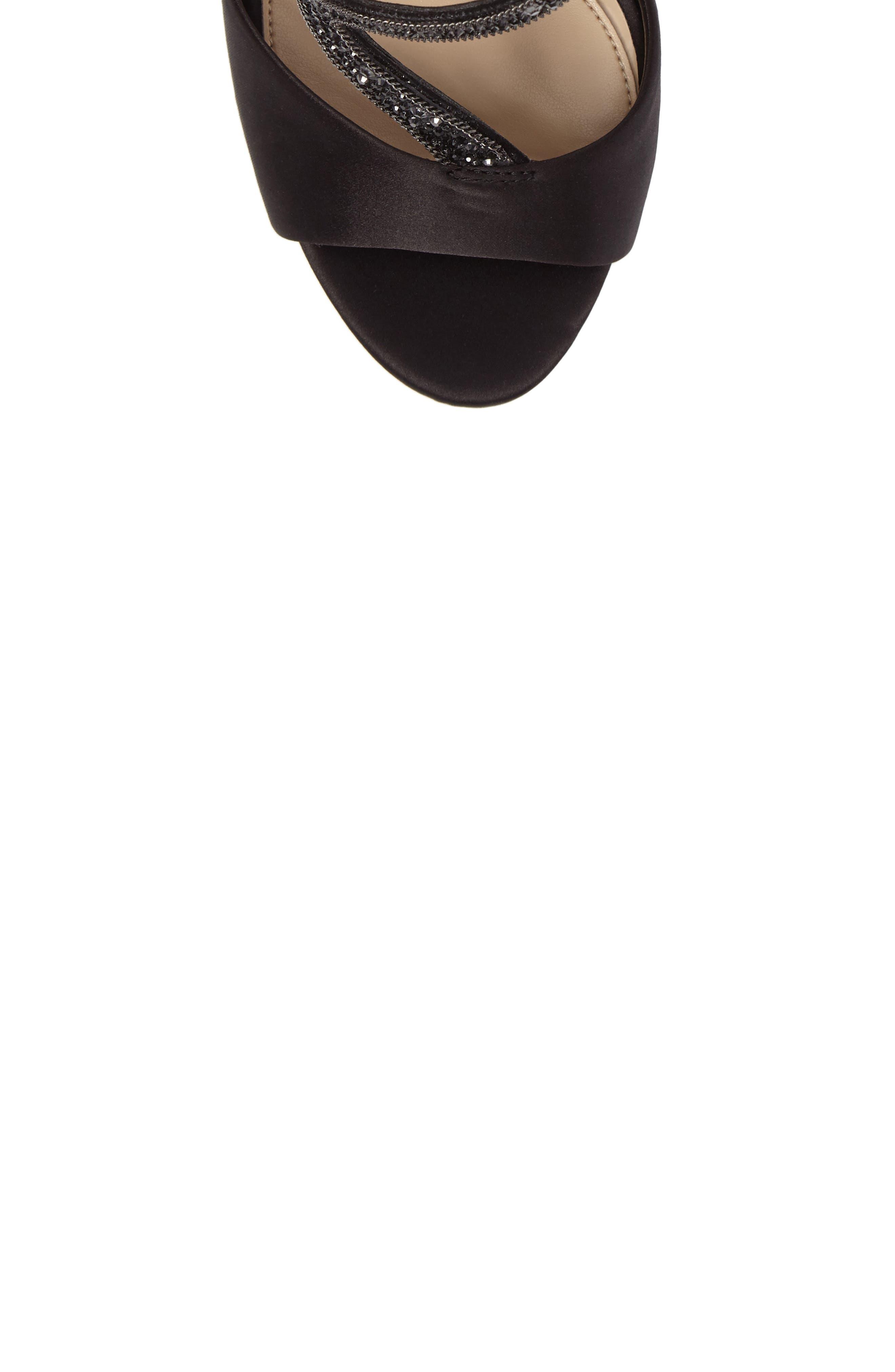 Imagine Vince Camuto Dafny Embellished Sandal,                             Alternate thumbnail 5, color,                             Black Satin