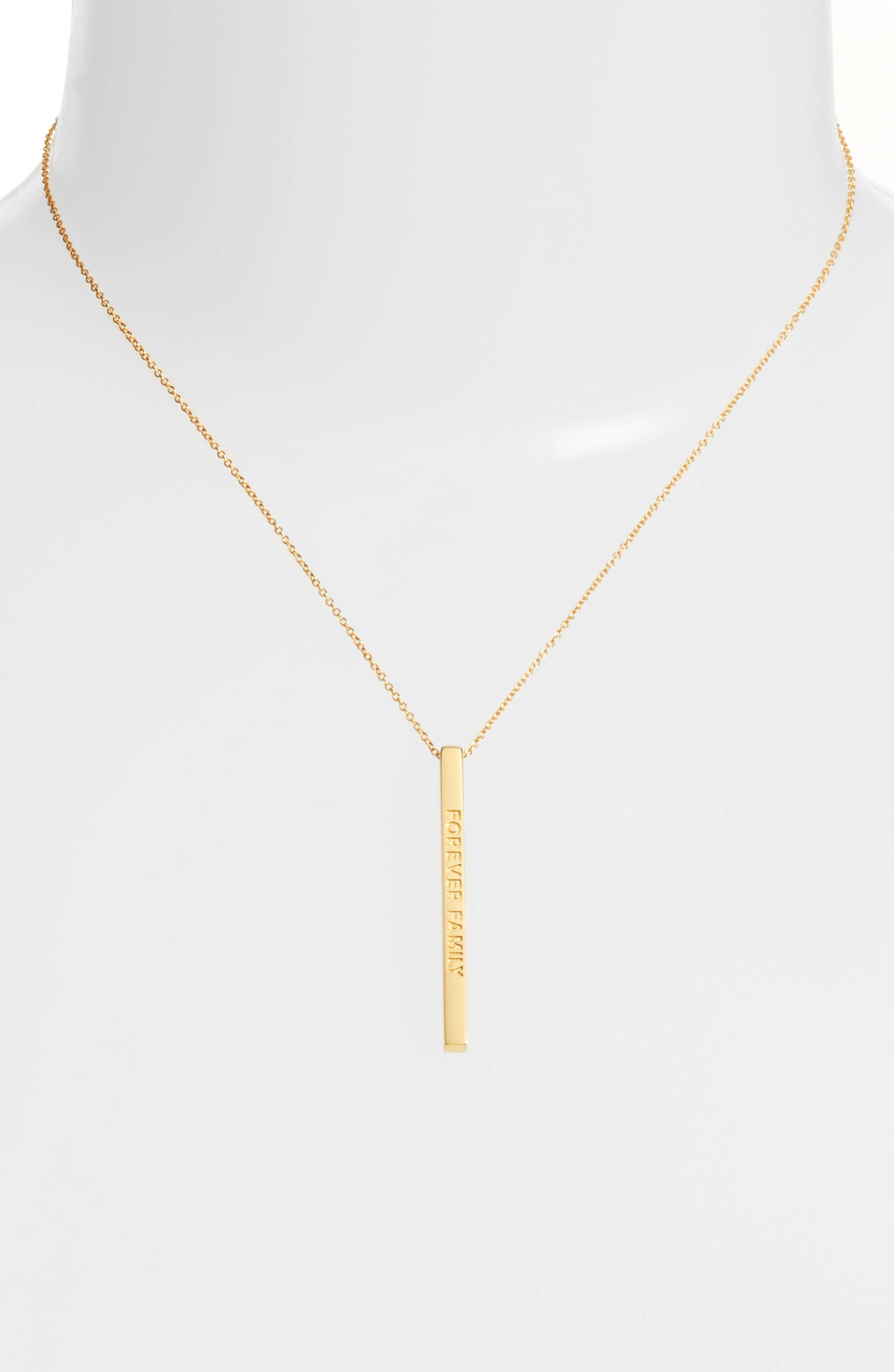 Alternate Image 2  - MantraBand® Forever Family Pendant Necklace