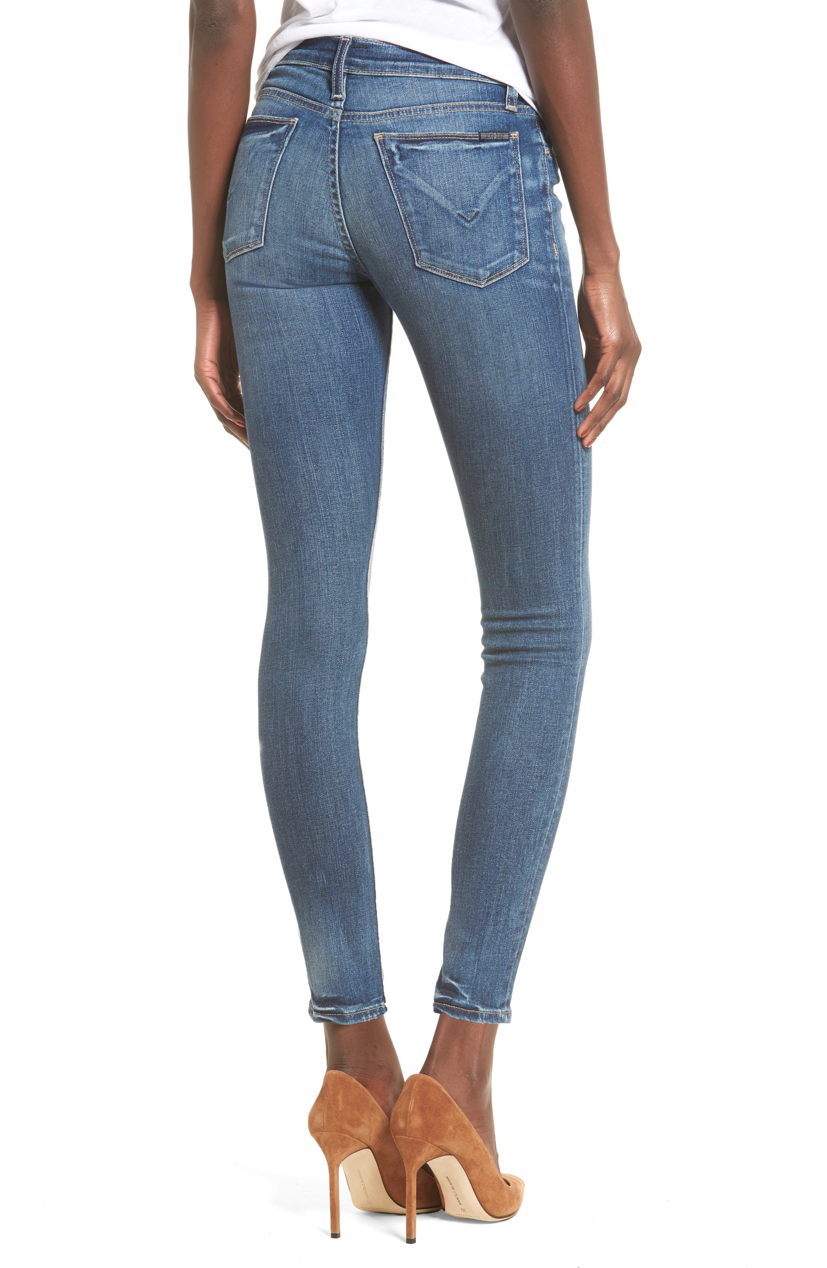 Alternate Image 2  - Hudson Jeans 'Krista' Super Skinny Jeans (Solo)