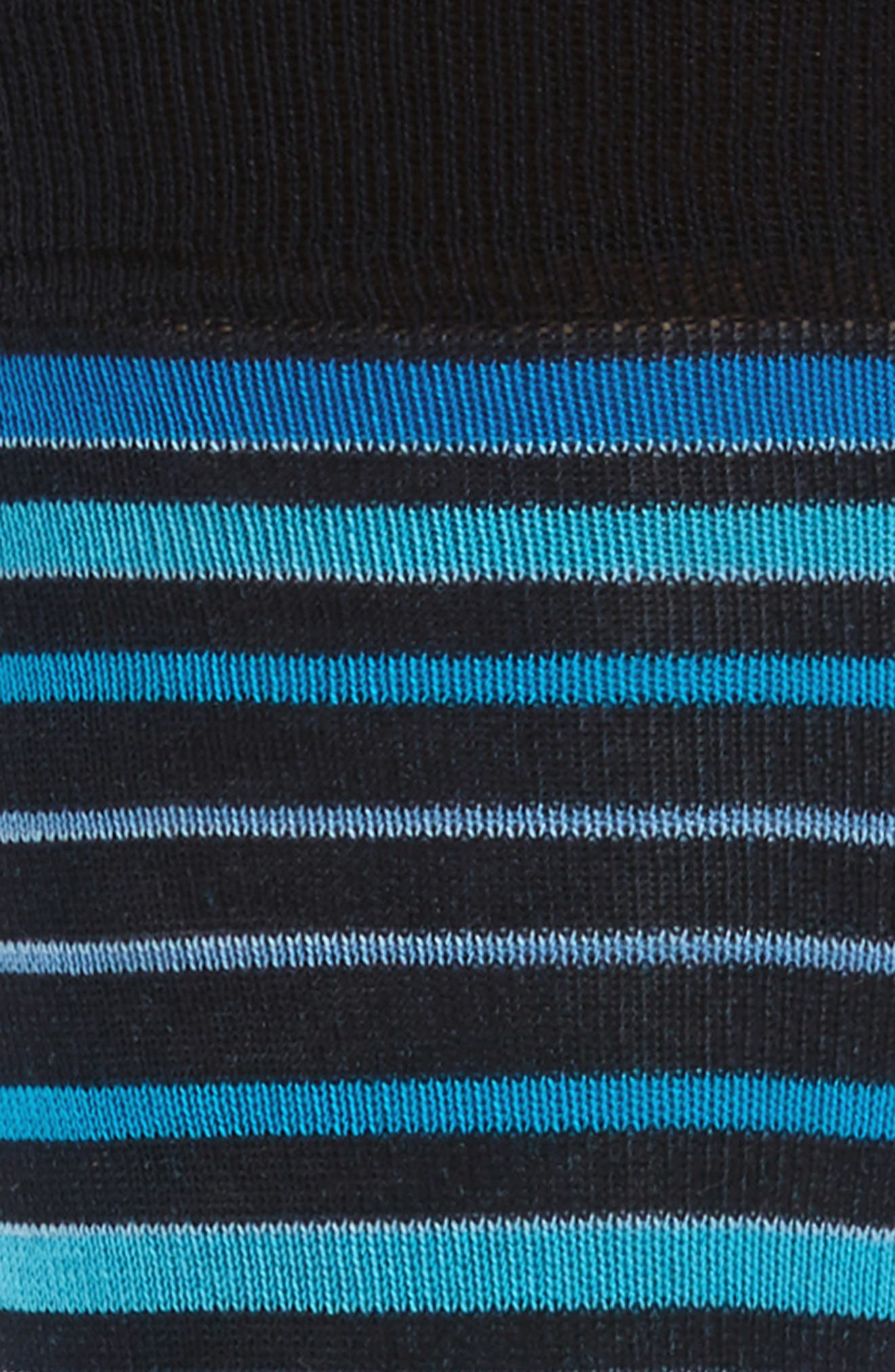Thick Stripe Crew Socks,                             Alternate thumbnail 2, color,                             Navy/ Aqua