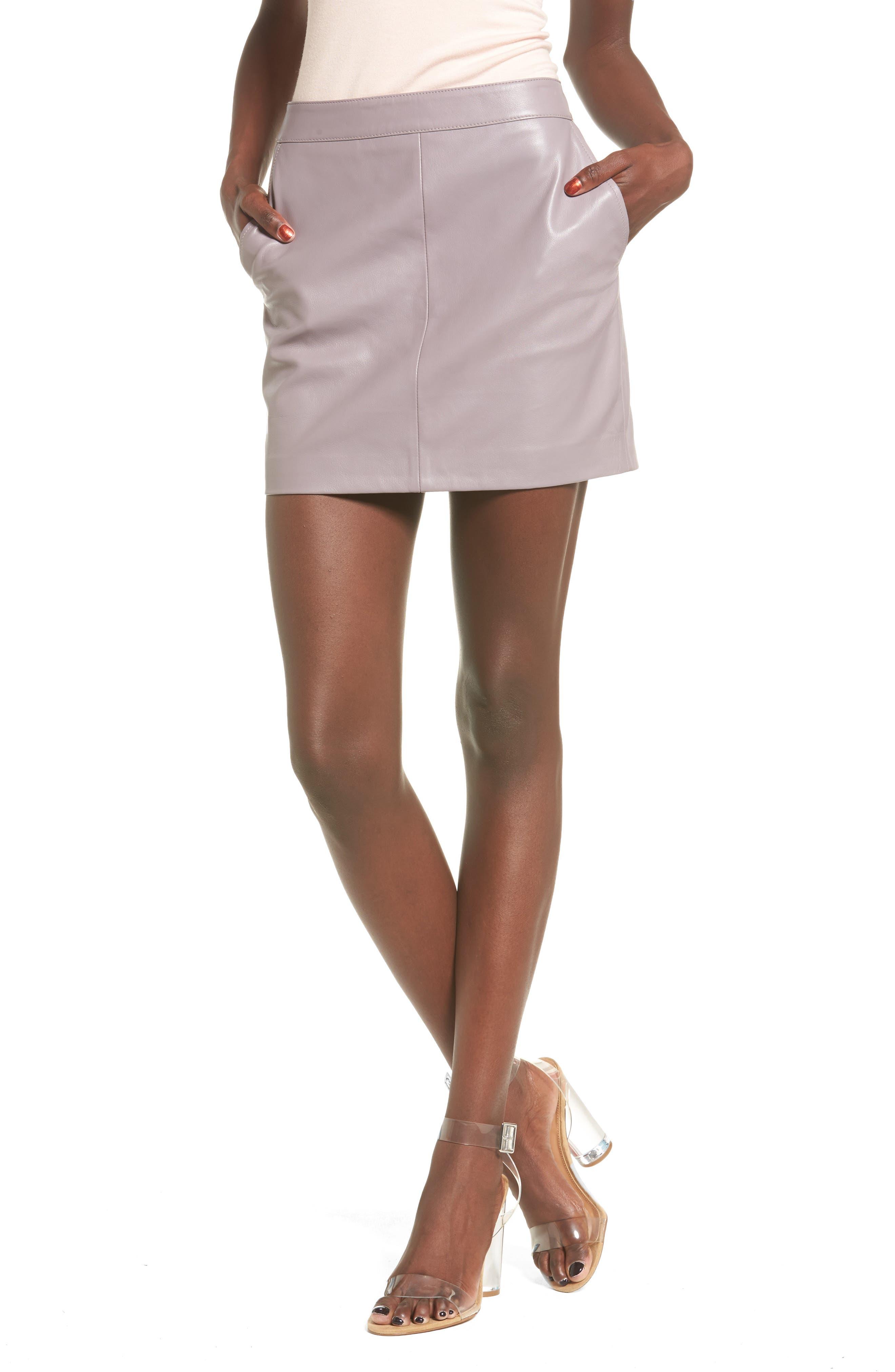 Leith Leather Miniskirt