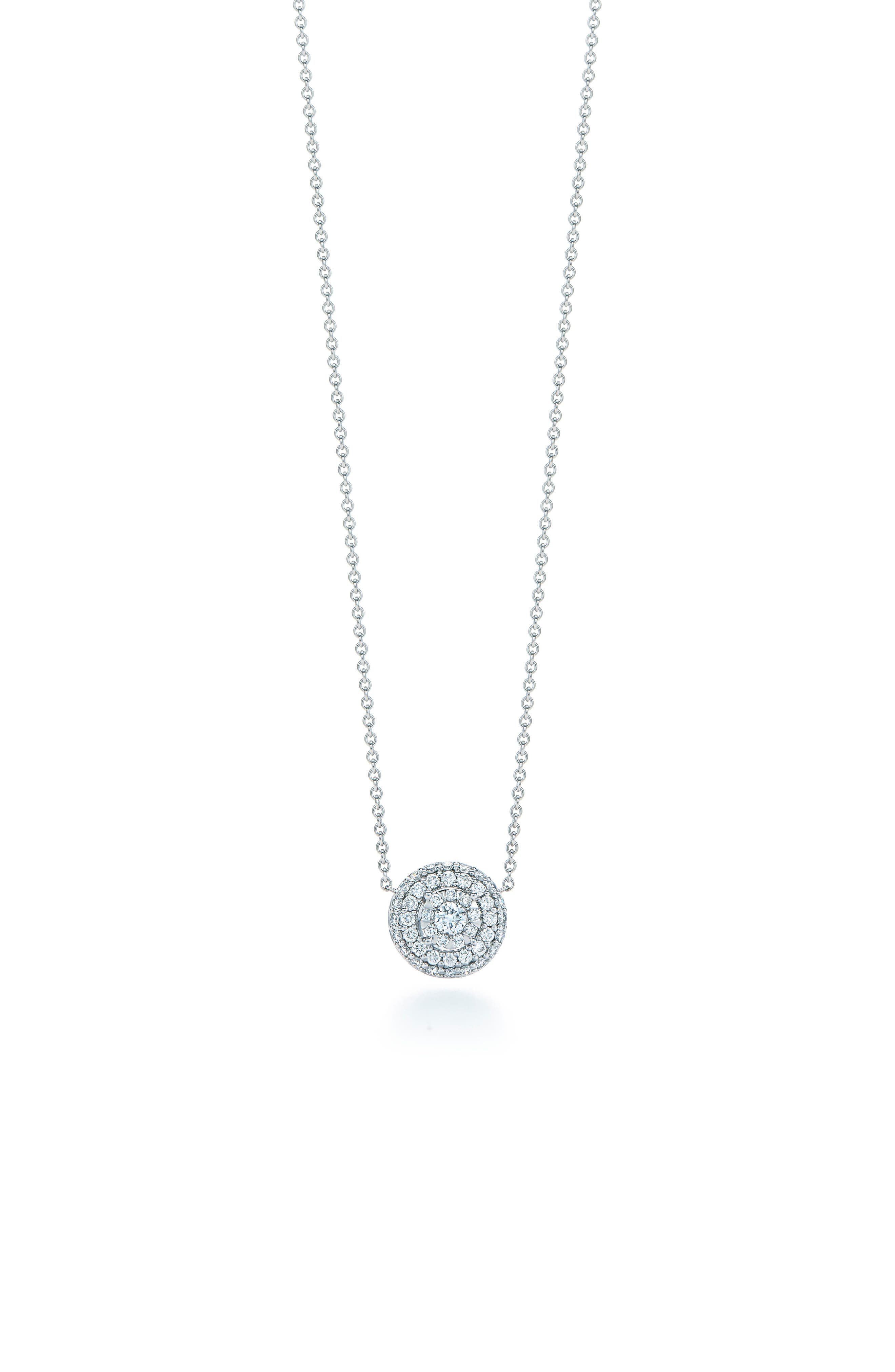 Main Image - Kwiat Sunburst Pavé Diamond Double Halo Pendant Necklace