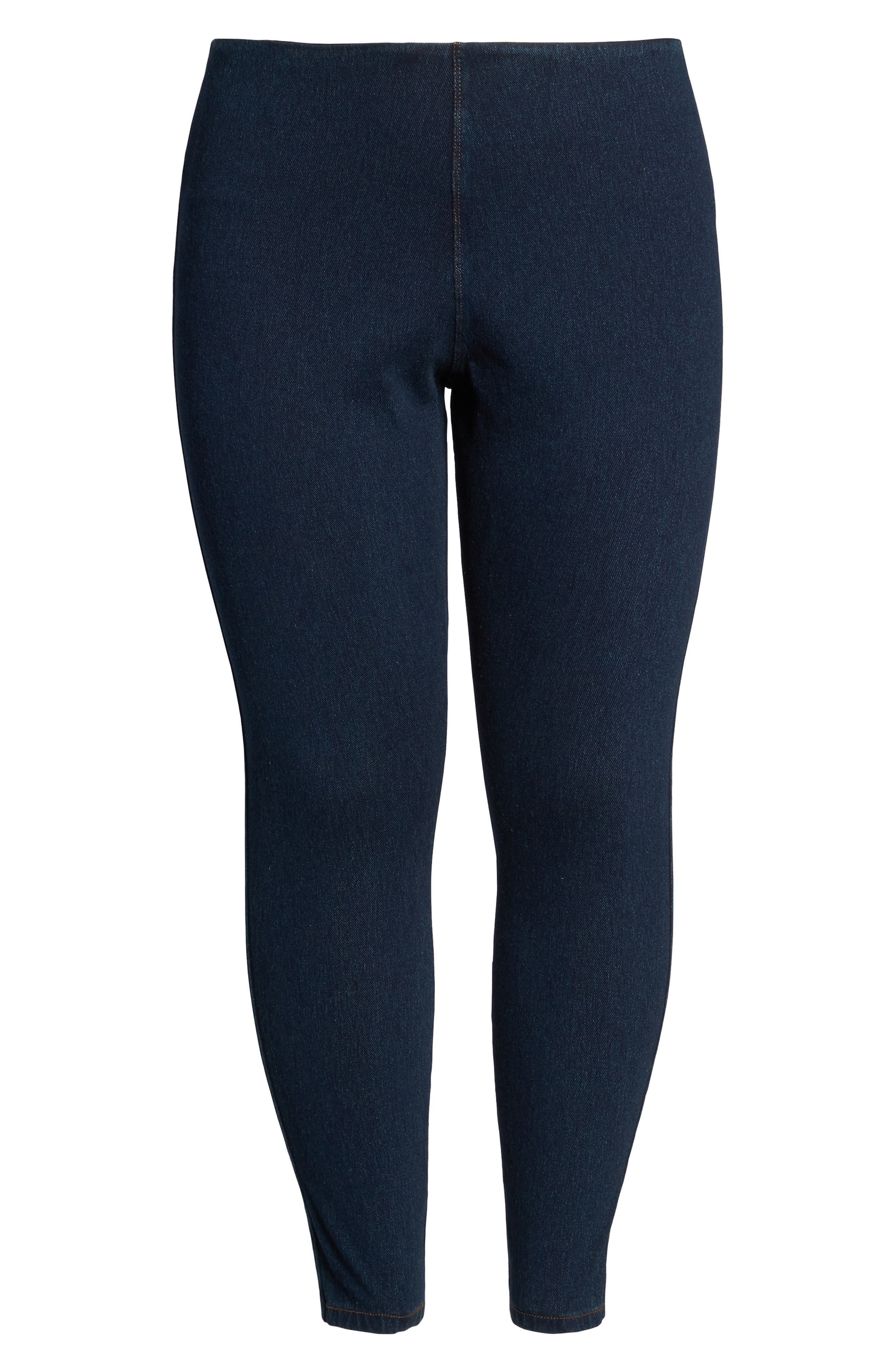 Alternate Image 6  - Lyssè Toothpick Denim Leggings (Plus Size)