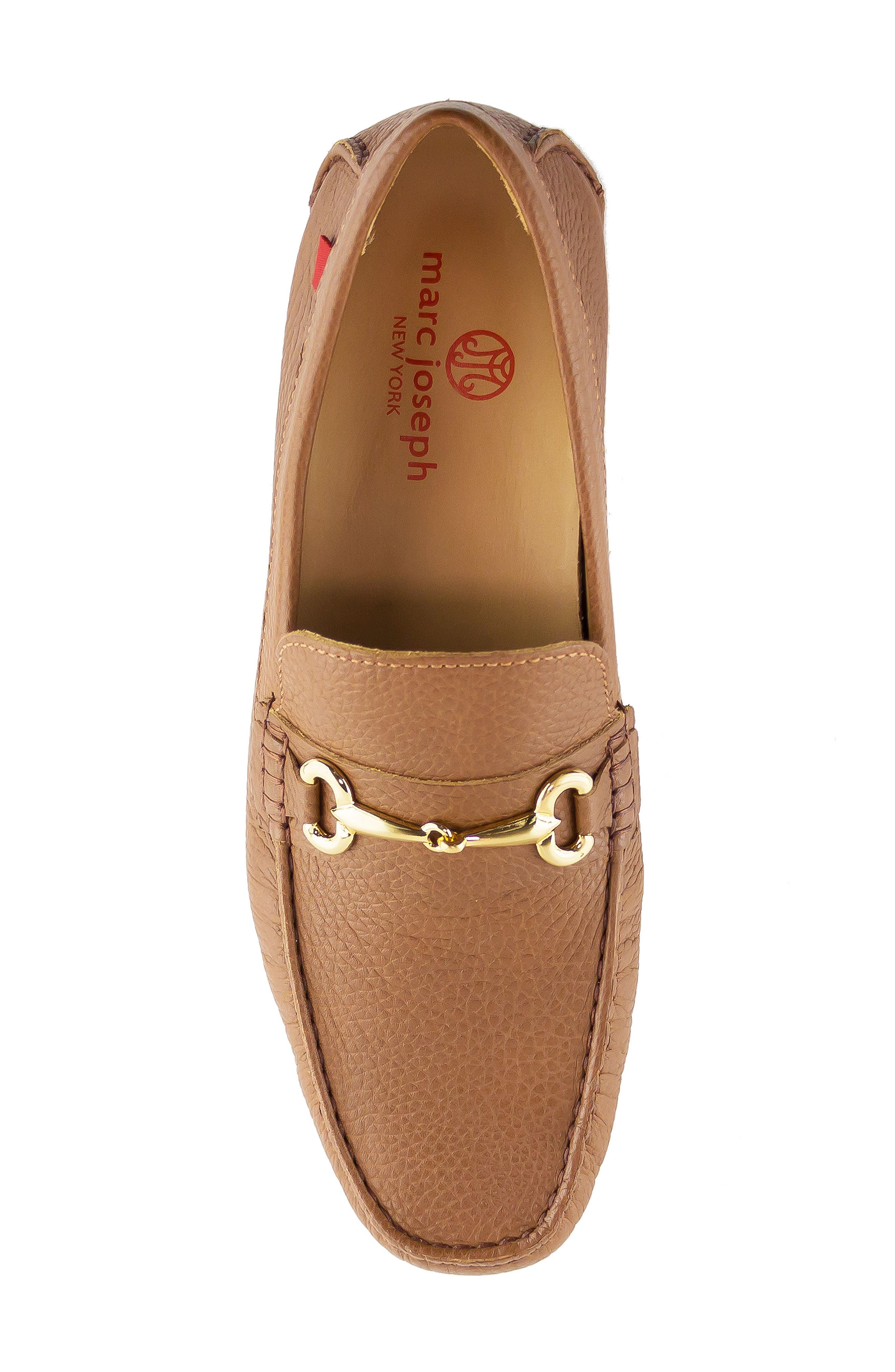 Wall Street Driving Shoe,                             Alternate thumbnail 5, color,                             Cognac Leather
