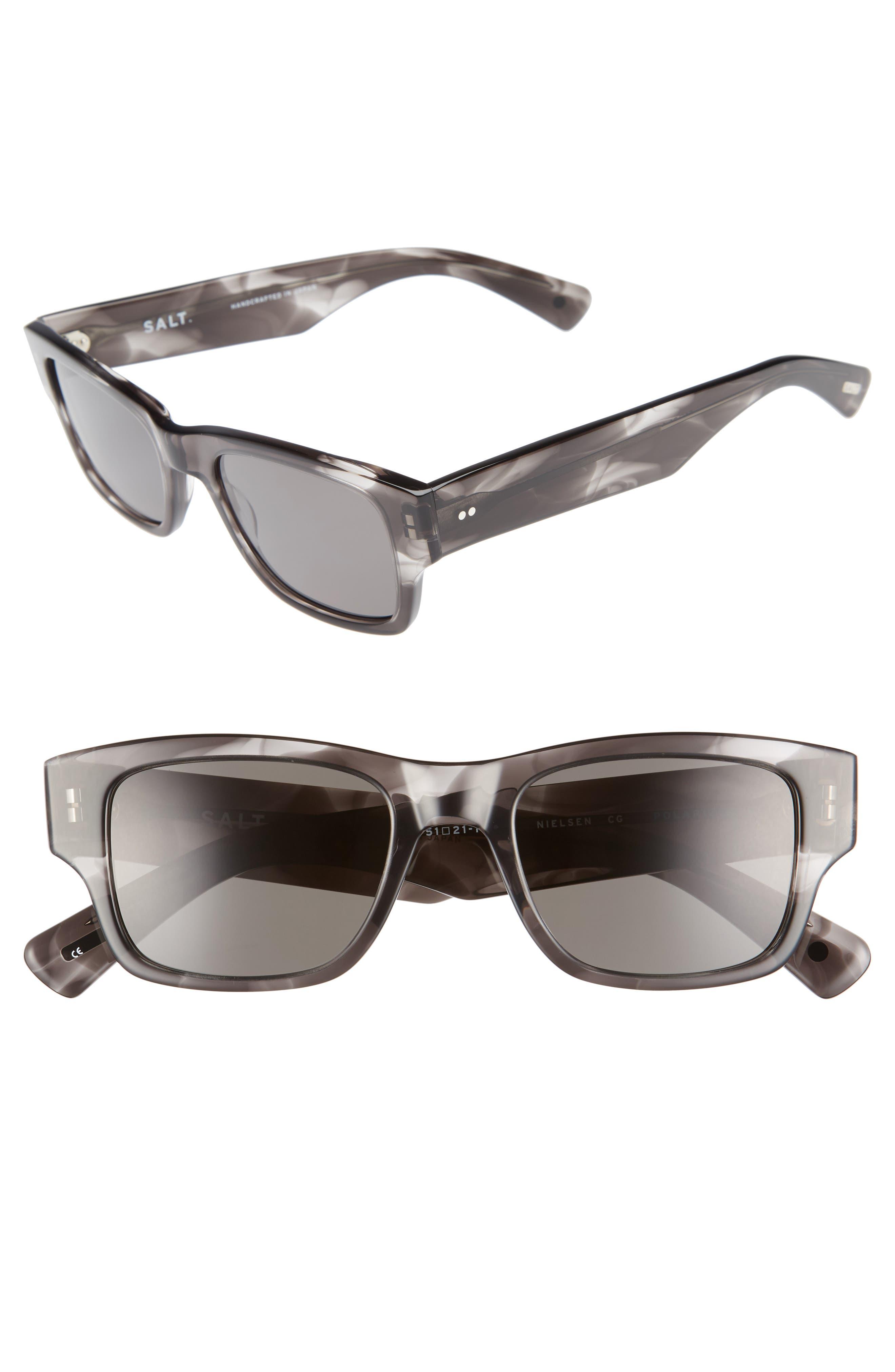 Nielsen 51mm Polarized Sunglasses,                             Main thumbnail 1, color,                             Cold Grey