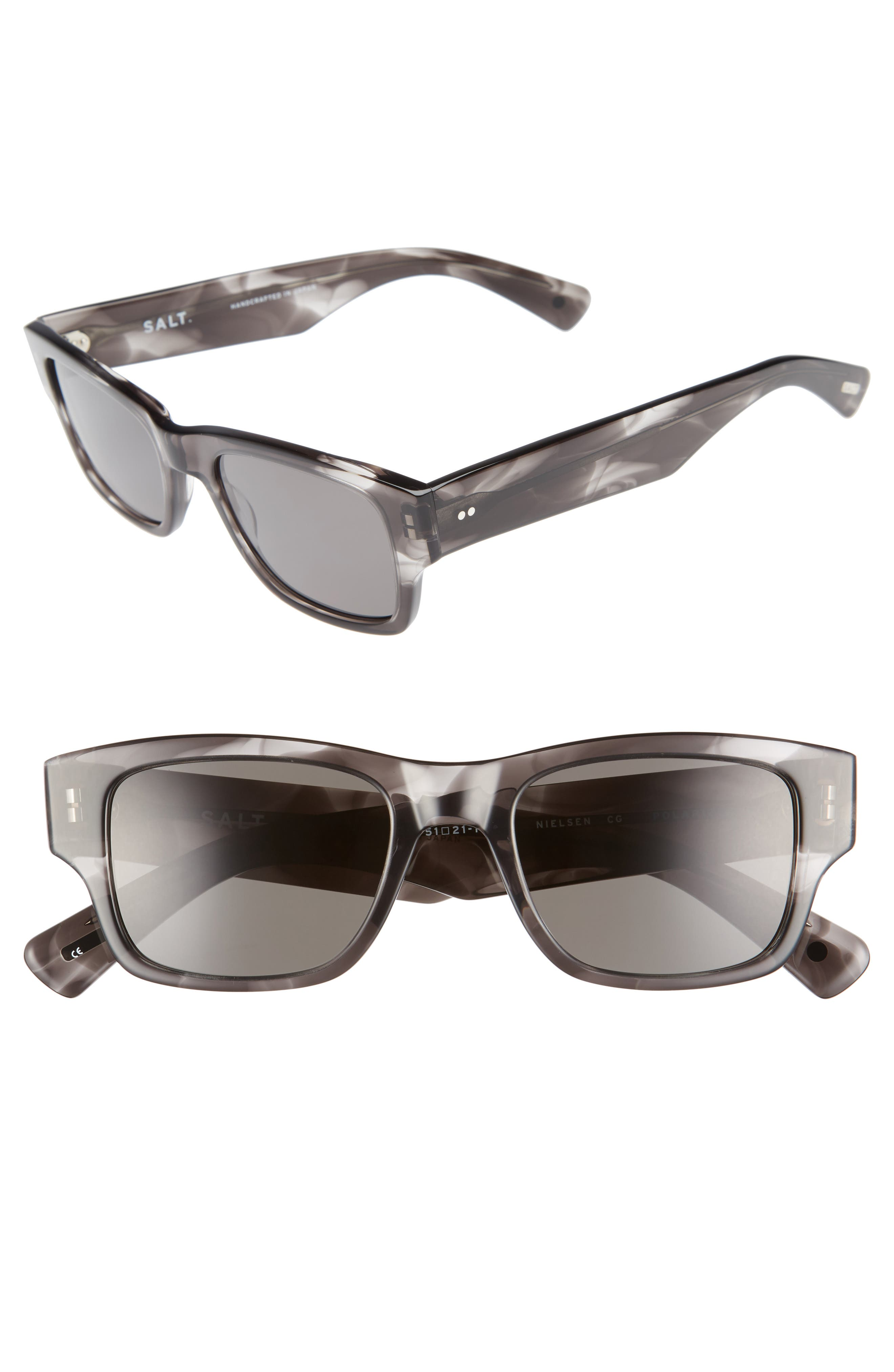 Nielsen 51mm Polarized Sunglasses,                         Main,                         color, Cold Grey