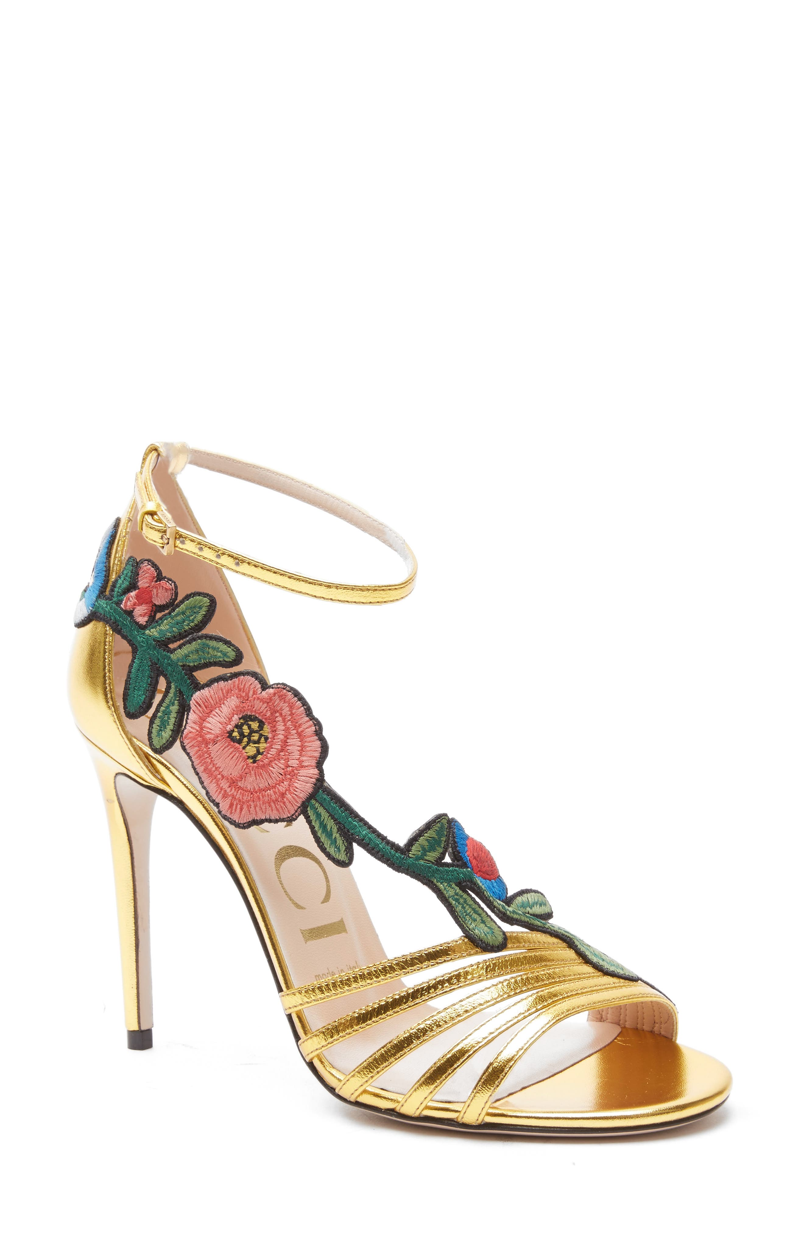 Alternate Image 1 Selected - Gucci Ophelia Floral Sandal (Women)