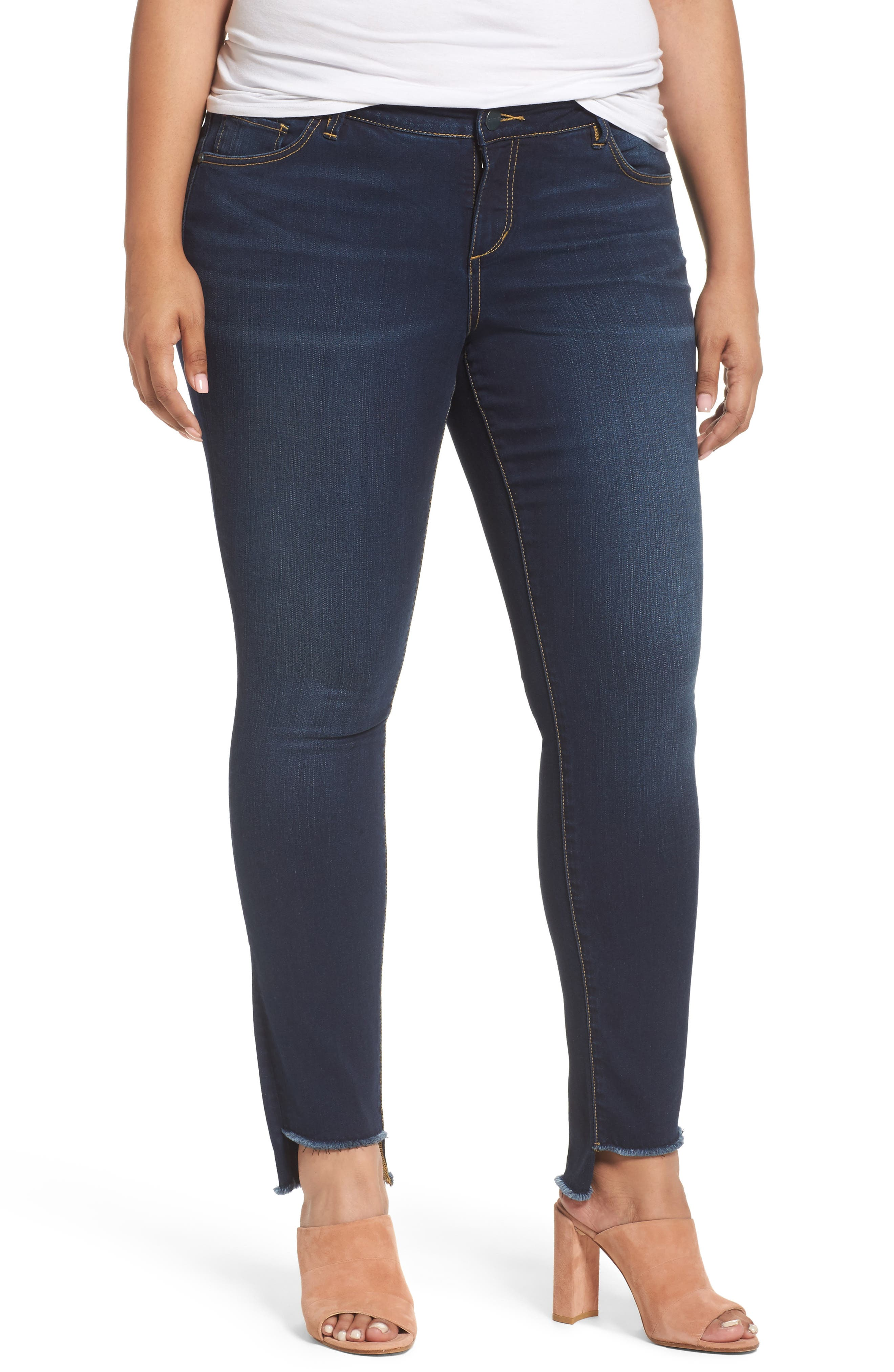 SLINK Jeans Step Hem Skinny Jeans (Plus Size)