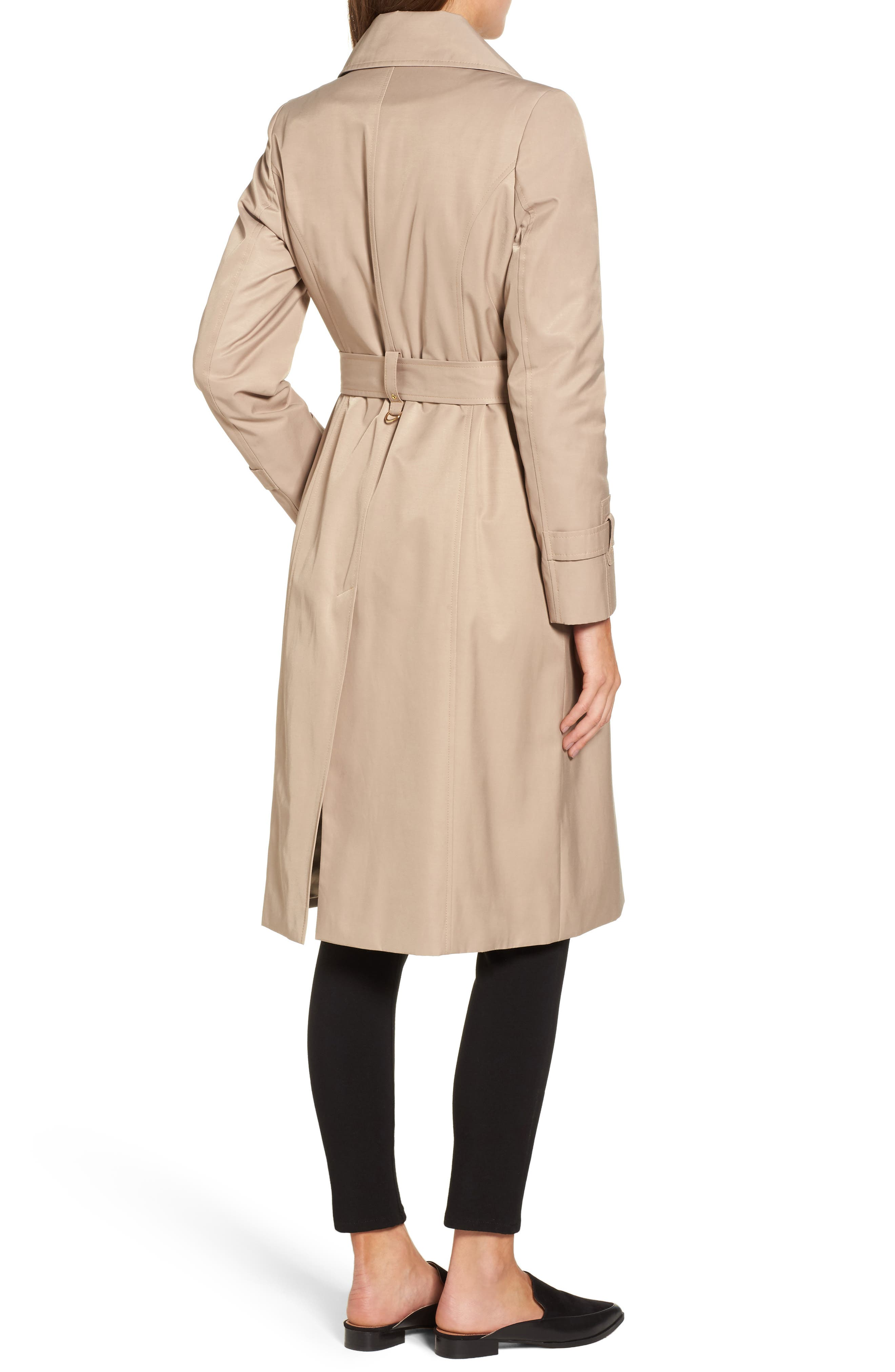 Alternate Image 2  - Via Spiga Double Breasted Trench Coat